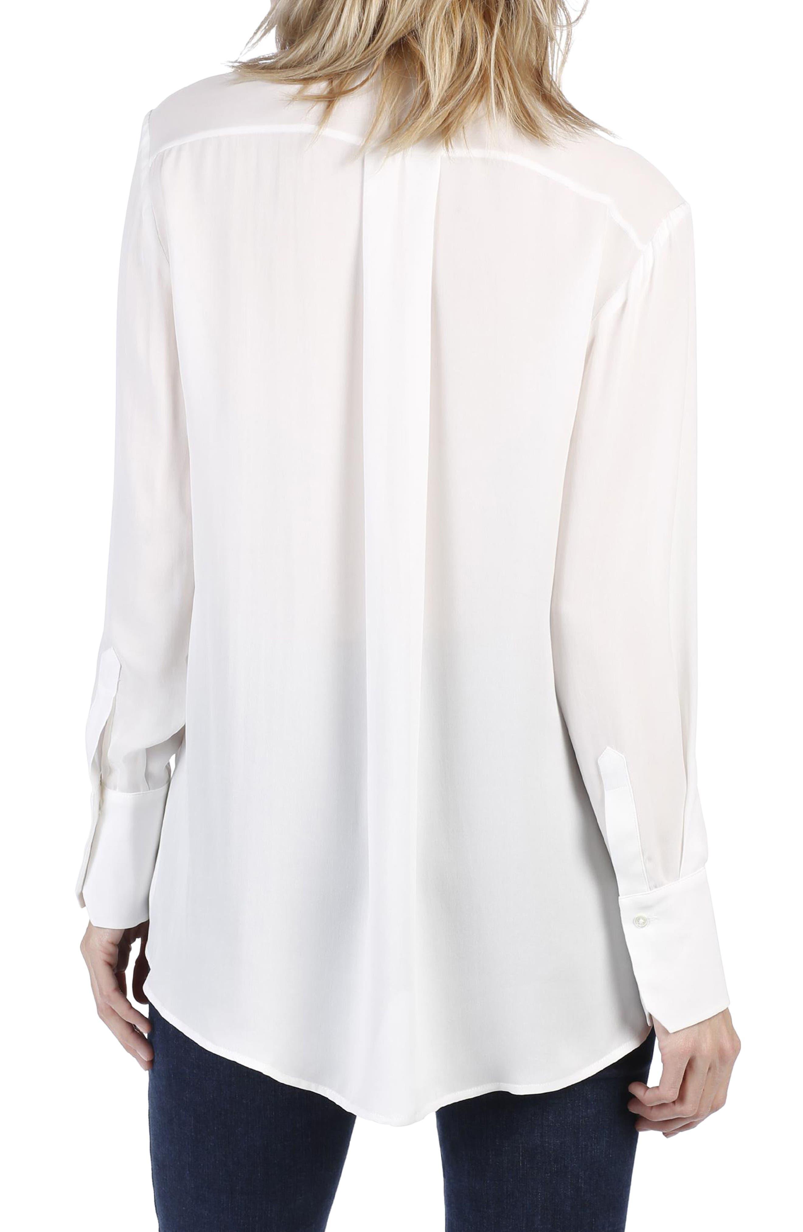Clemence Silk Shirt,                             Alternate thumbnail 4, color,