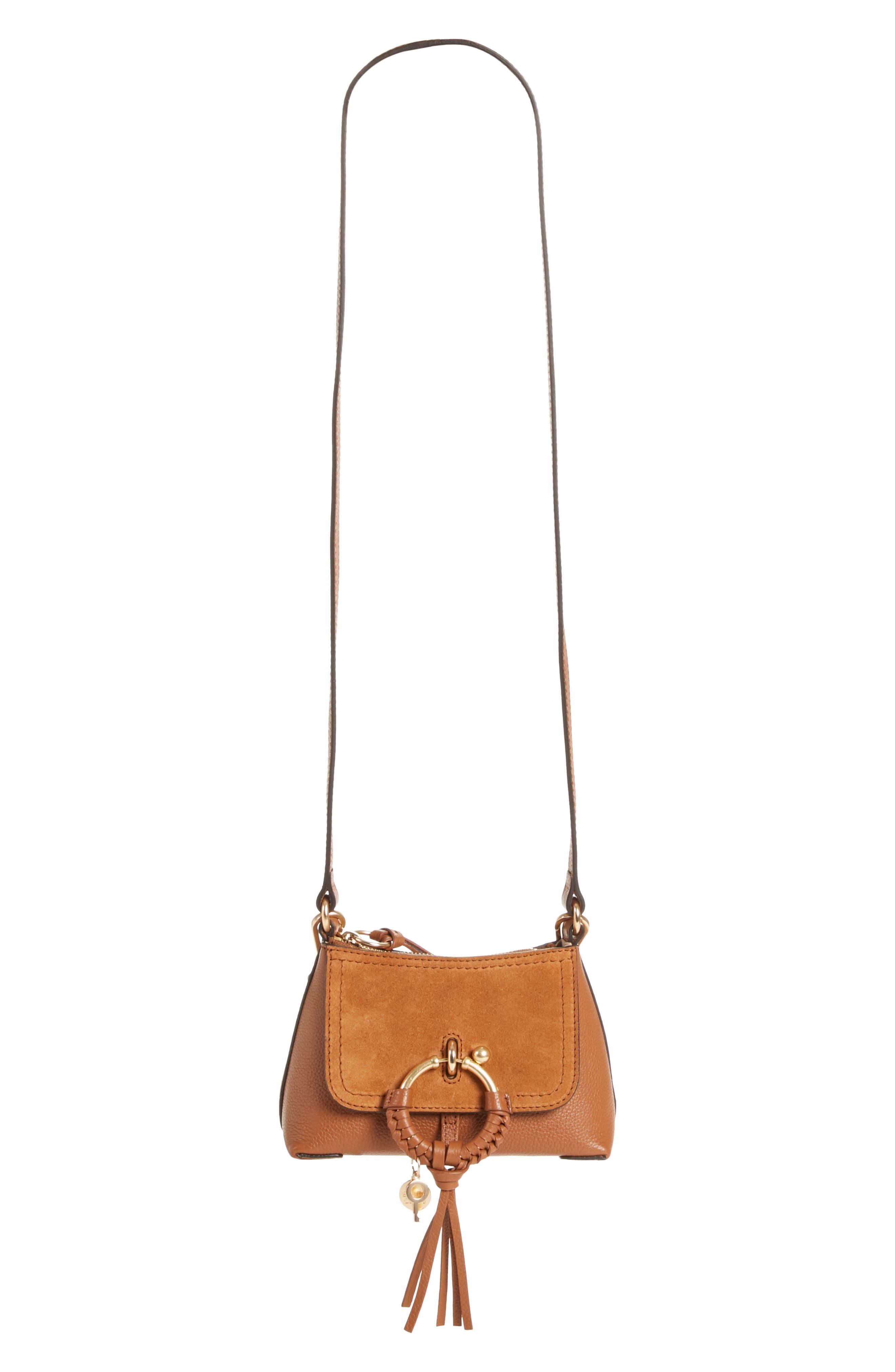 See By Chloe Mini Joan Leather Crossbody Bag - Brown