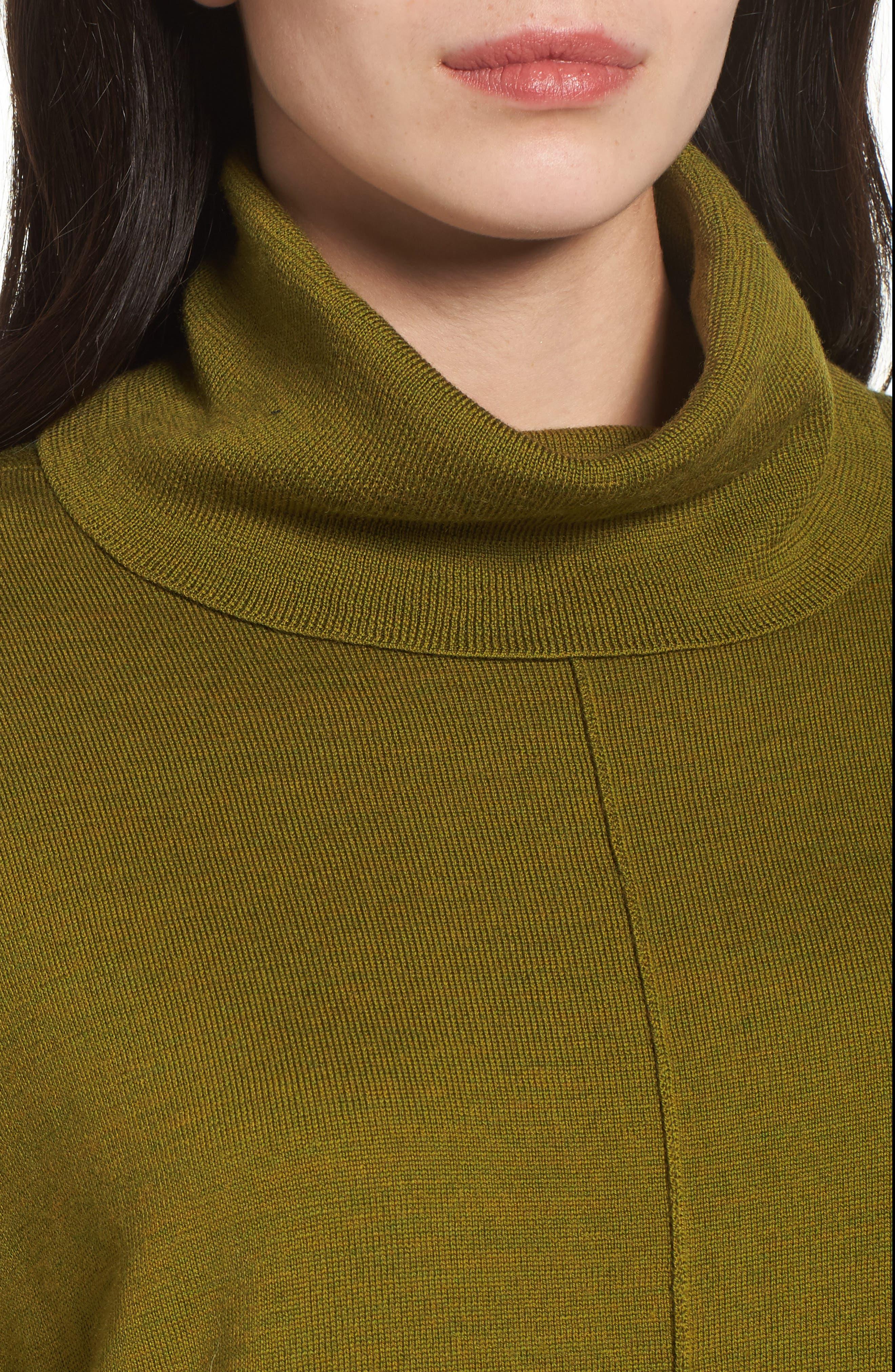 Merino Wool Boxy Turtleneck Sweater,                             Alternate thumbnail 20, color,