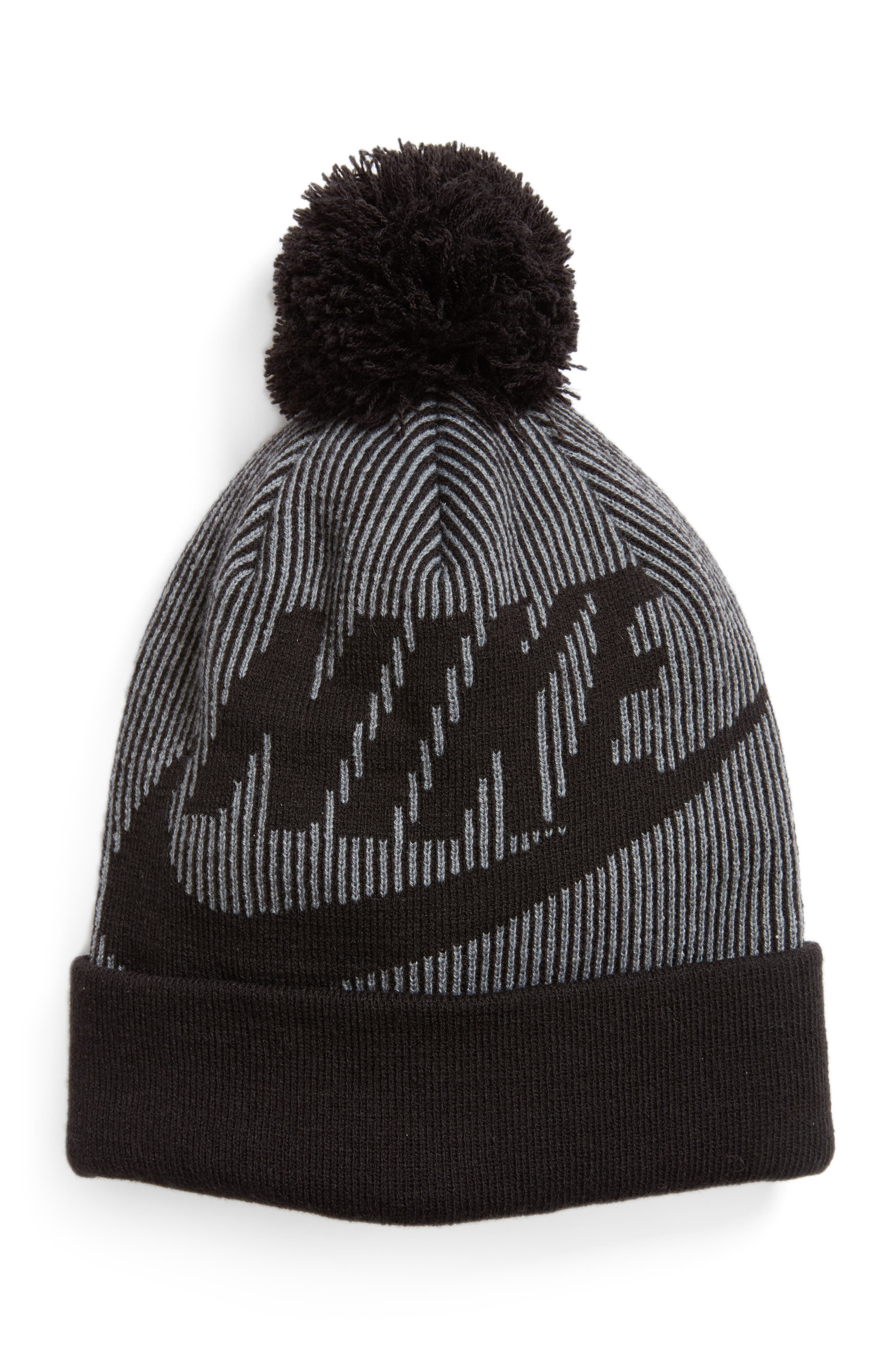 Sportswear Beanie with Removable Pom,                         Main,                         color, 010