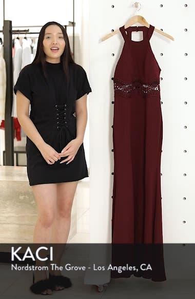 Front Slit Scuba Crepe Gown, sales video thumbnail