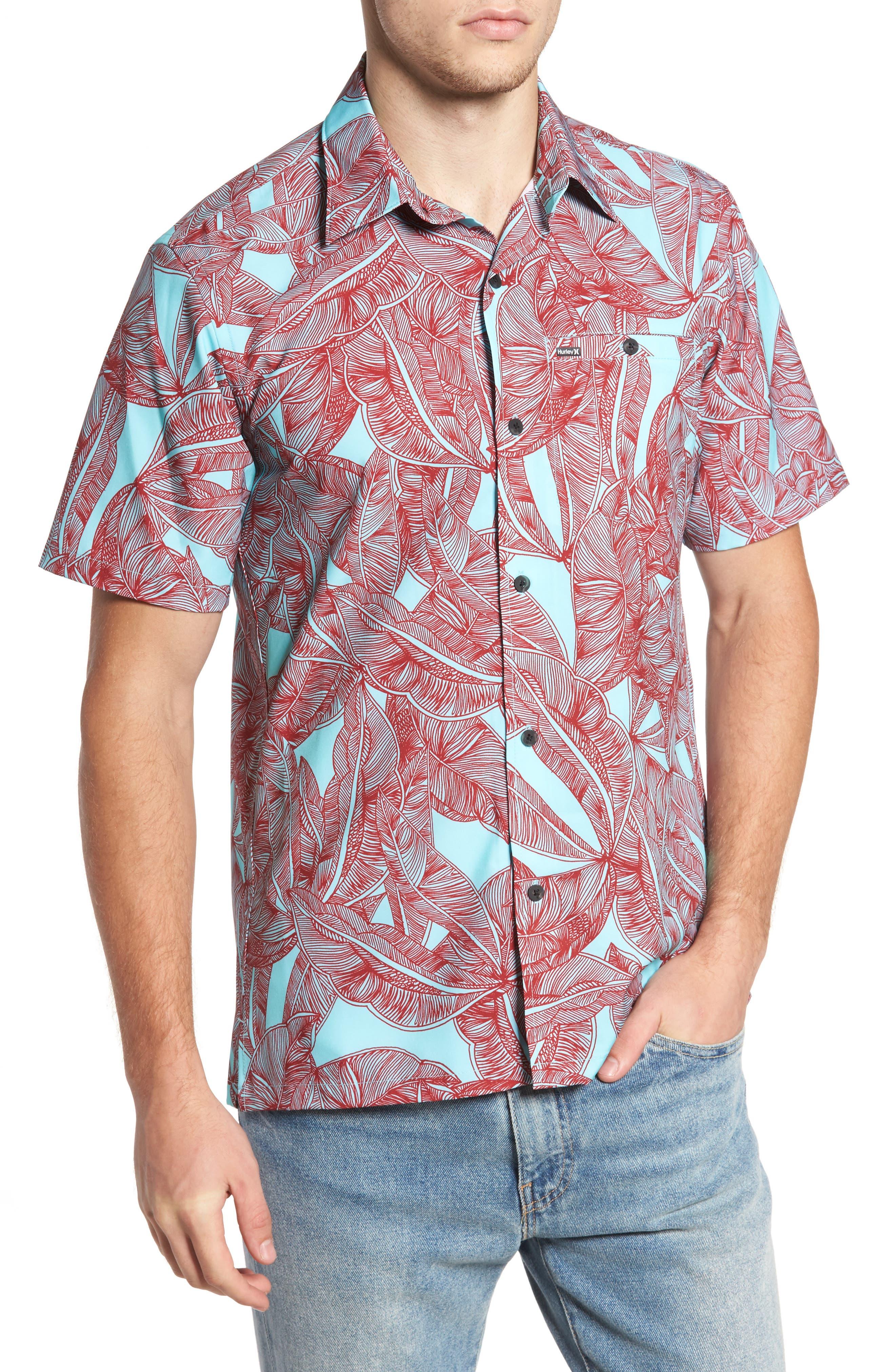 Print Woven Shirt,                         Main,                         color, 400