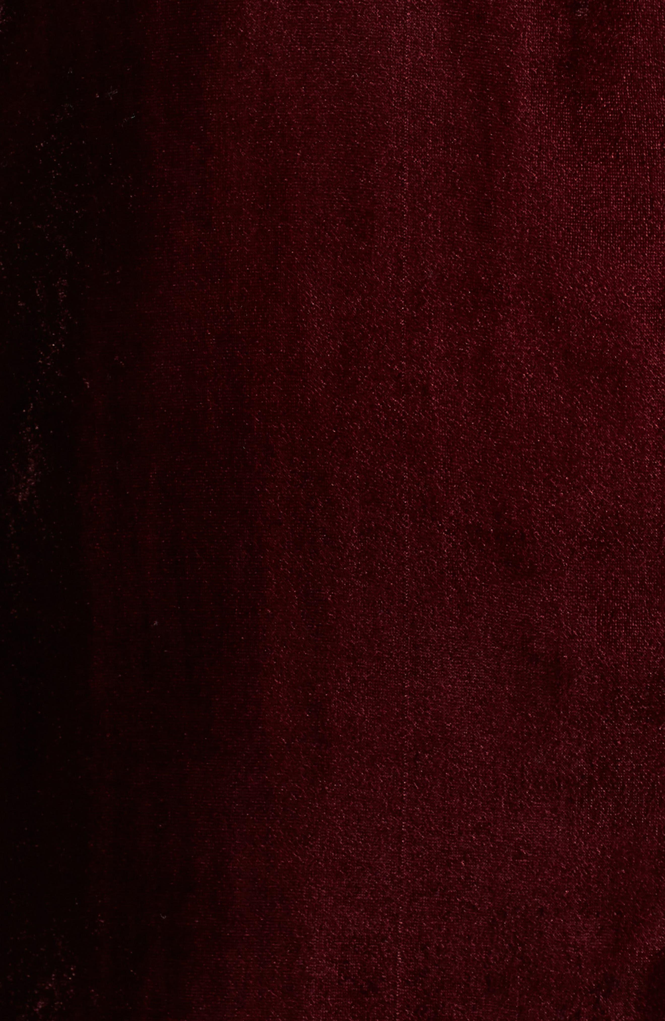 Velvet Shirt,                             Alternate thumbnail 5, color,                             RUBY WINE