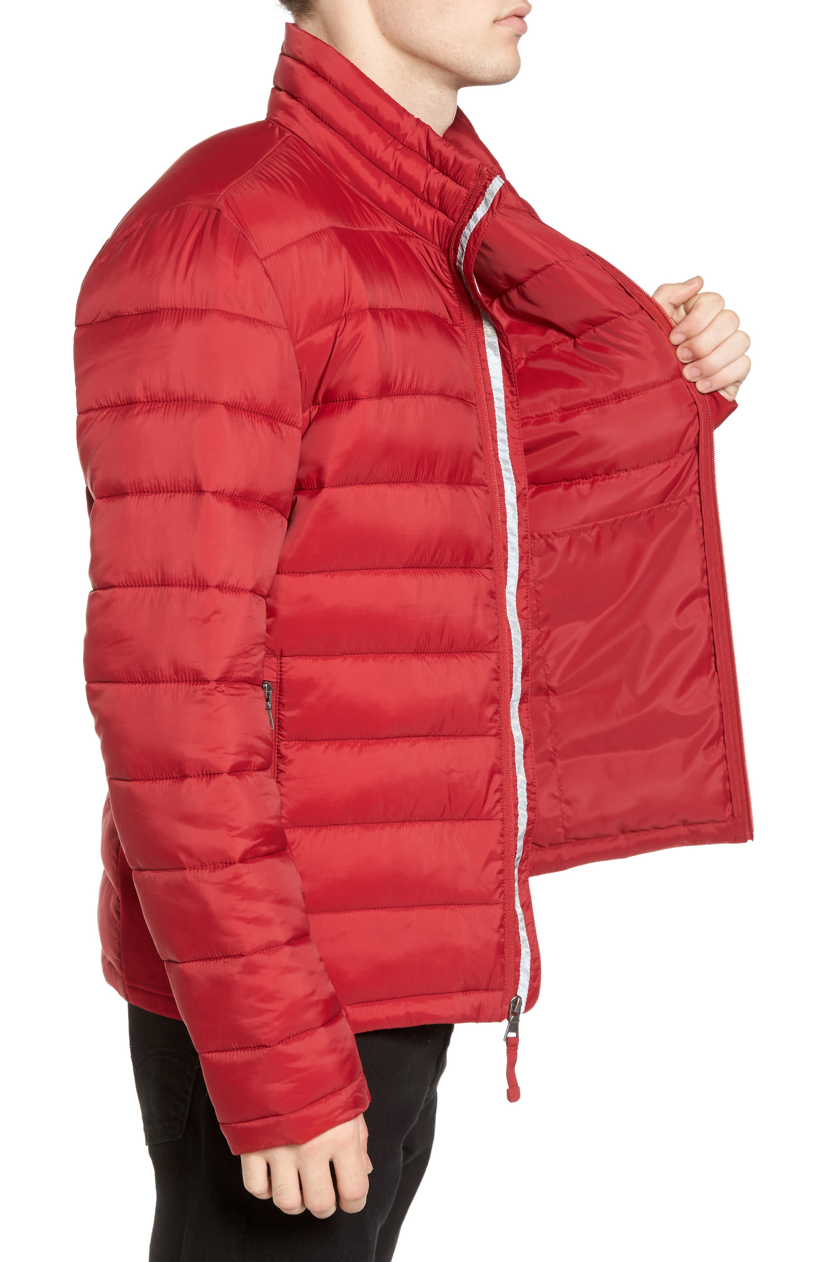 Water Resistant Packable Puffer Jacket,                             Alternate thumbnail 12, color,