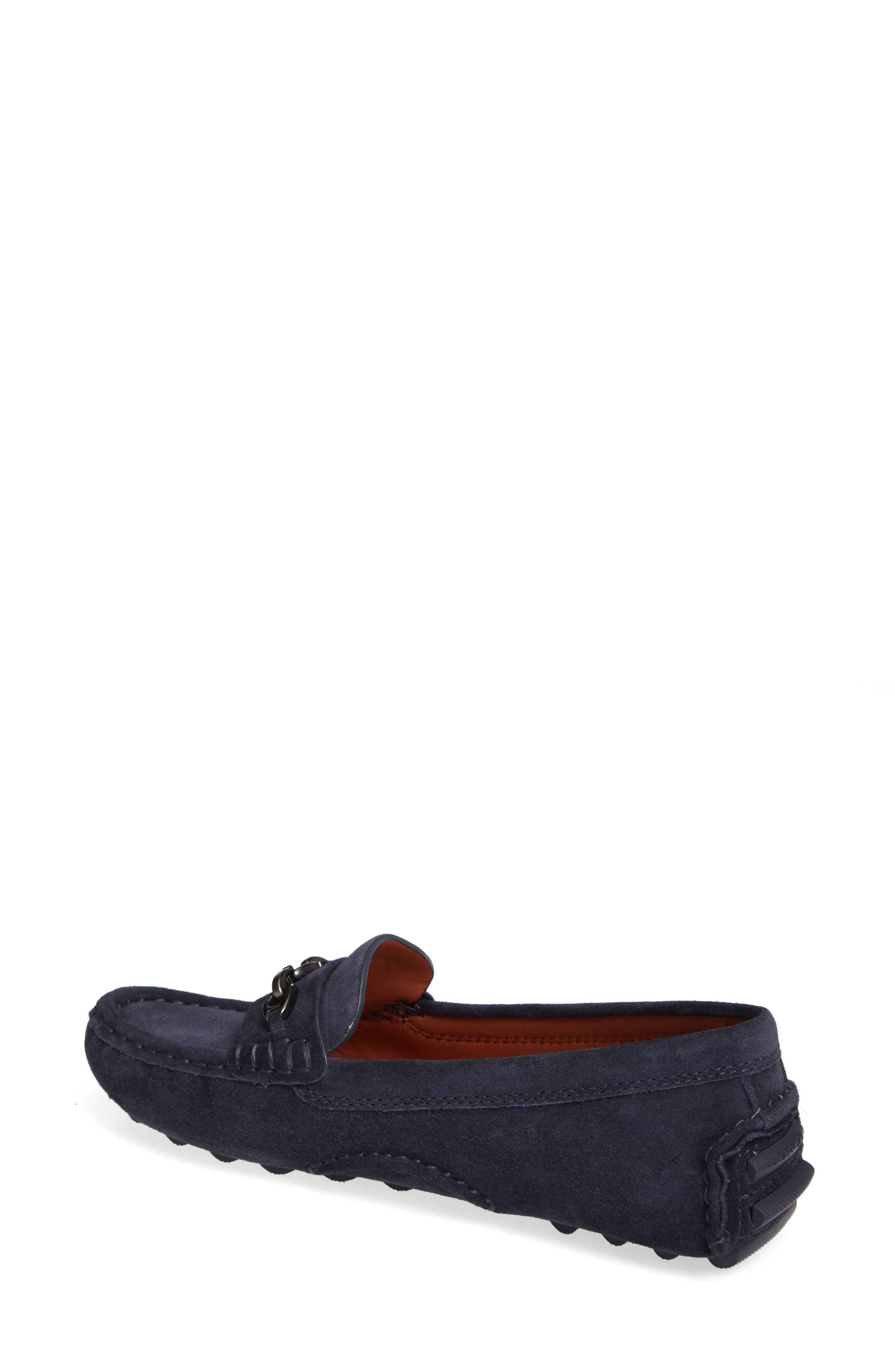 Crosby Driver Loafer,                             Alternate thumbnail 2, color,                             MIDNIGHT NAVY SUEDE