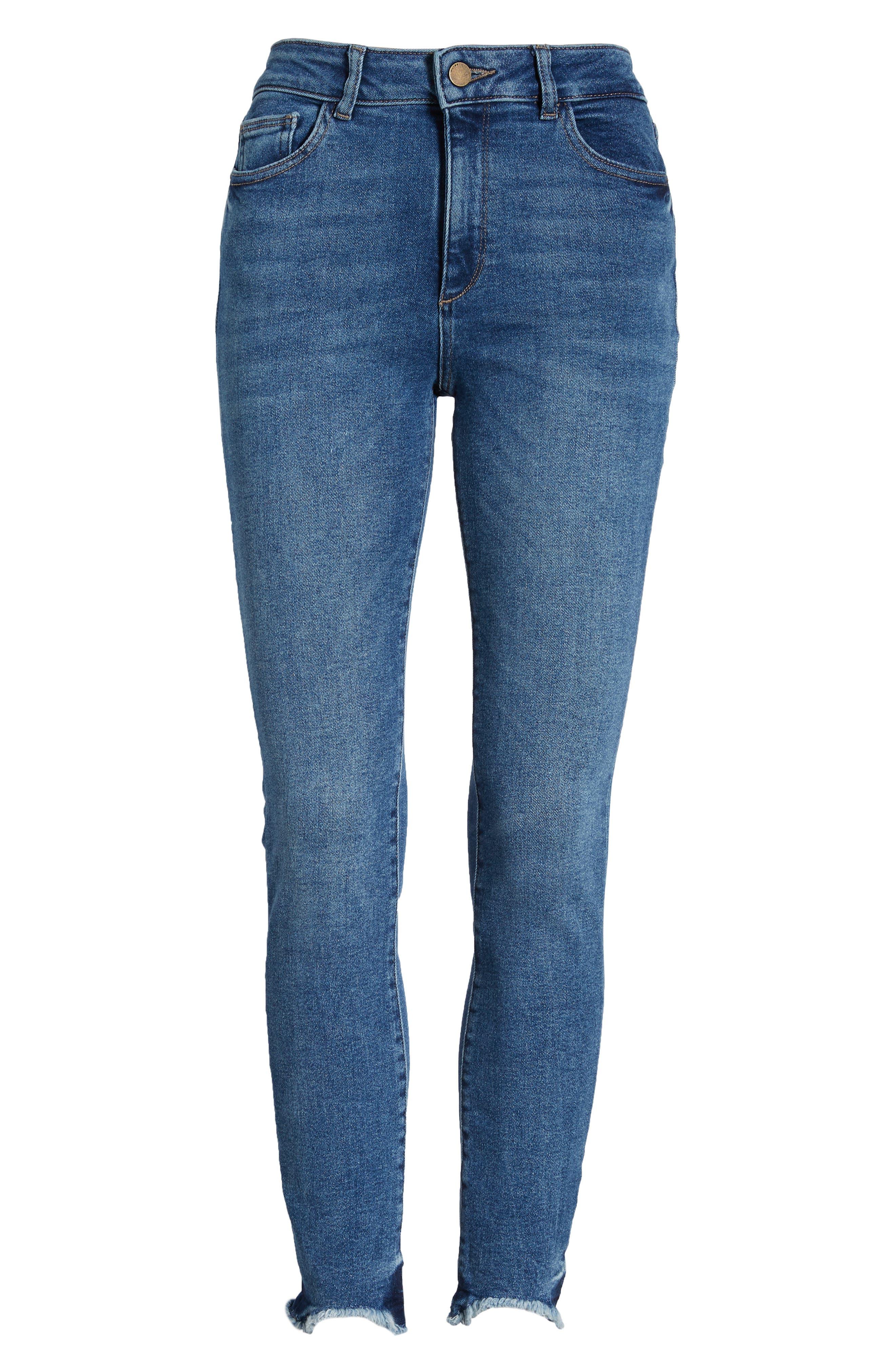 Farrow High Waist Skinny Jeans,                             Alternate thumbnail 7, color,                             422