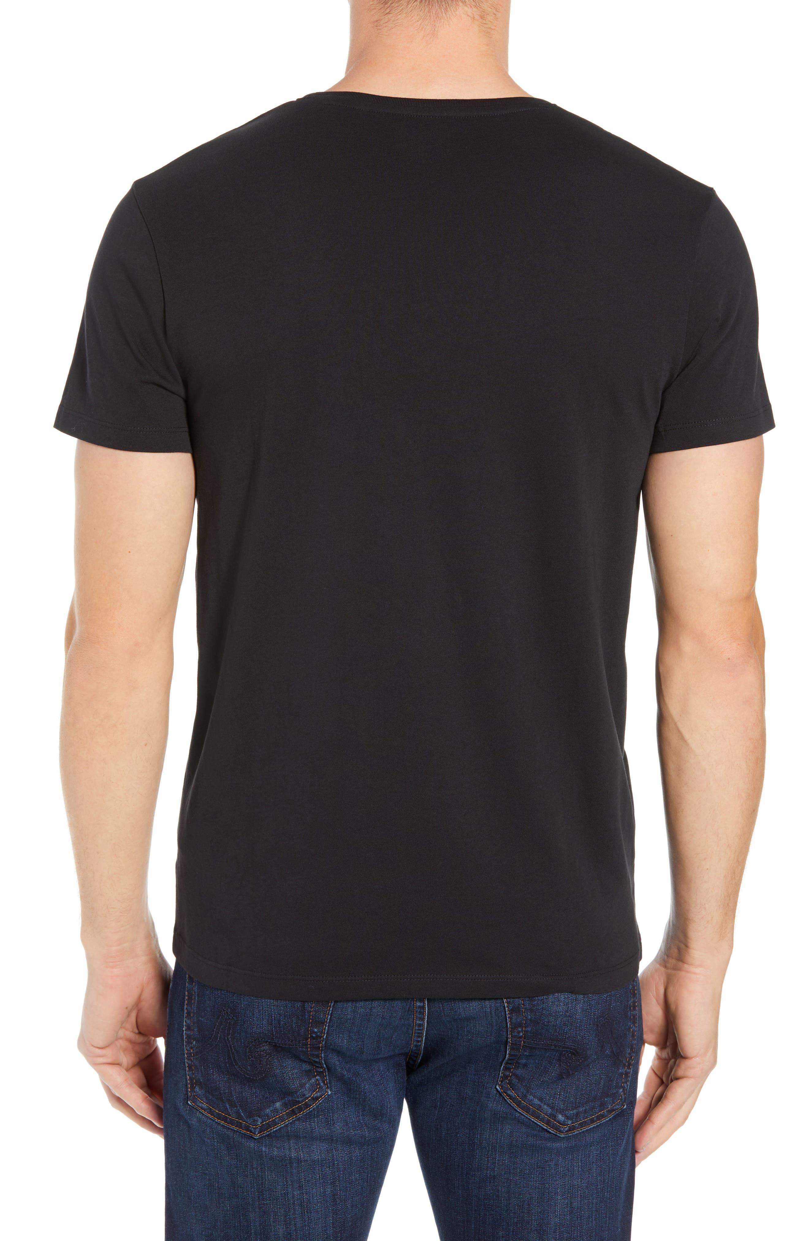 Core Logo T-Shirt,                             Alternate thumbnail 2, color,                             BLACK