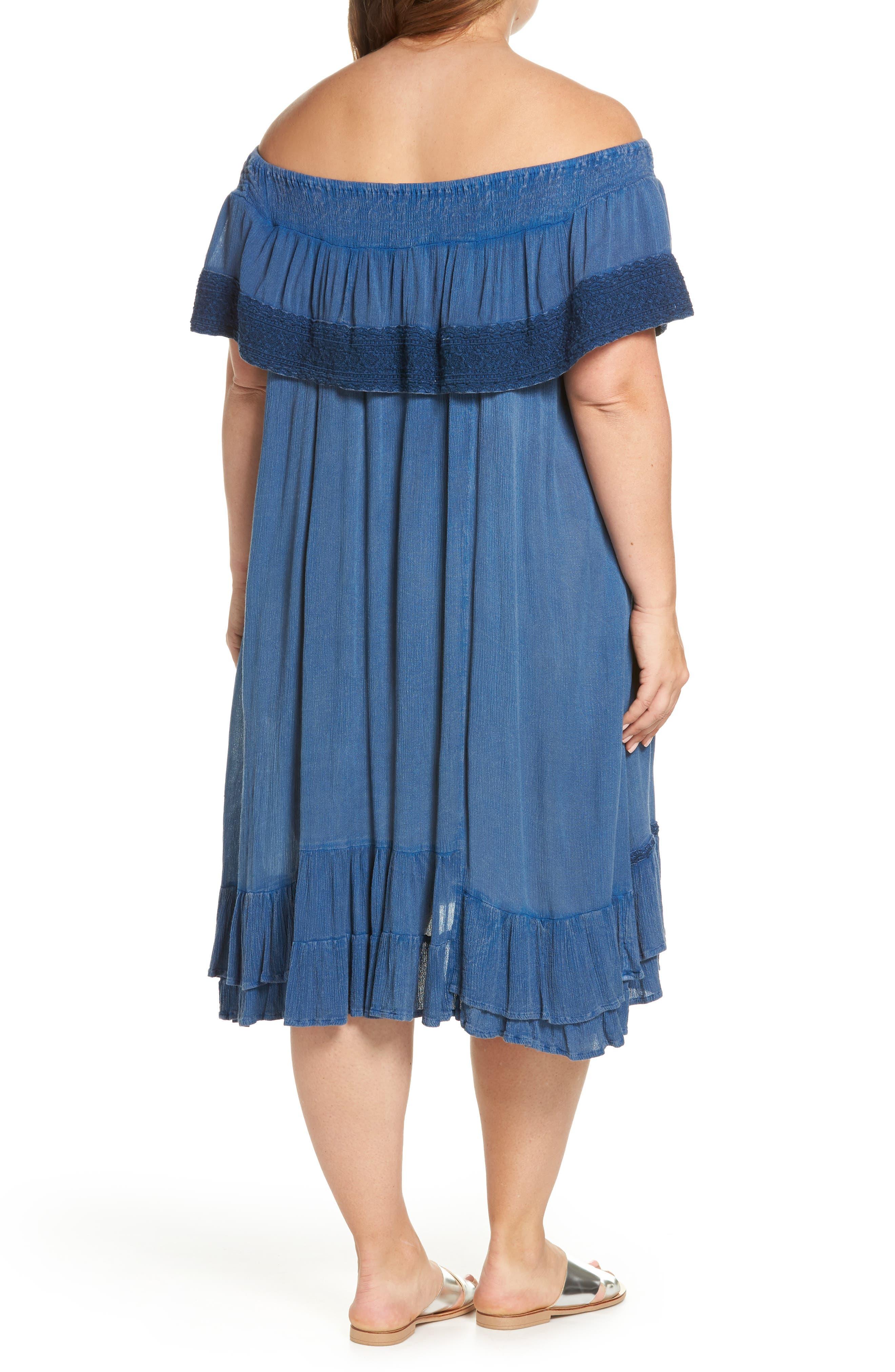Gavin Ruffle Cover-Up Dress,                             Alternate thumbnail 2, color,                             462