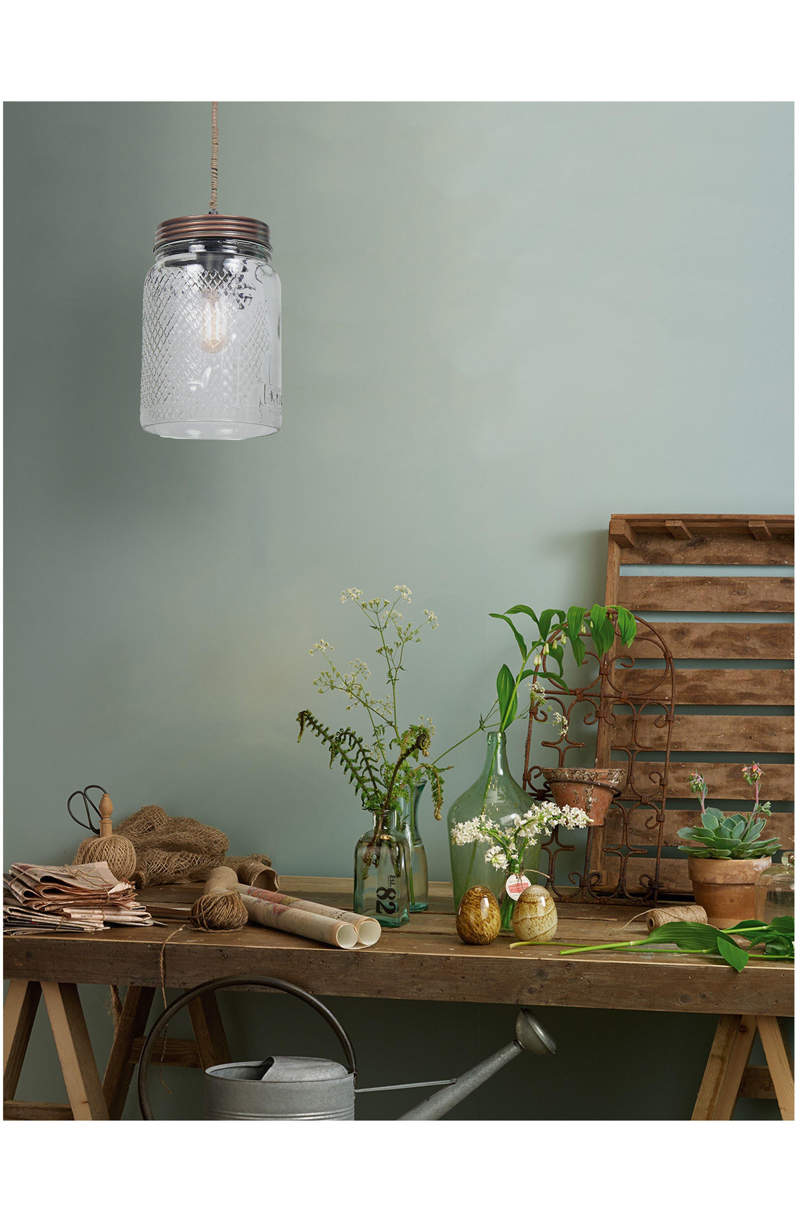 'Mason Jar' Ceiling Light Fixture,                             Alternate thumbnail 3, color,