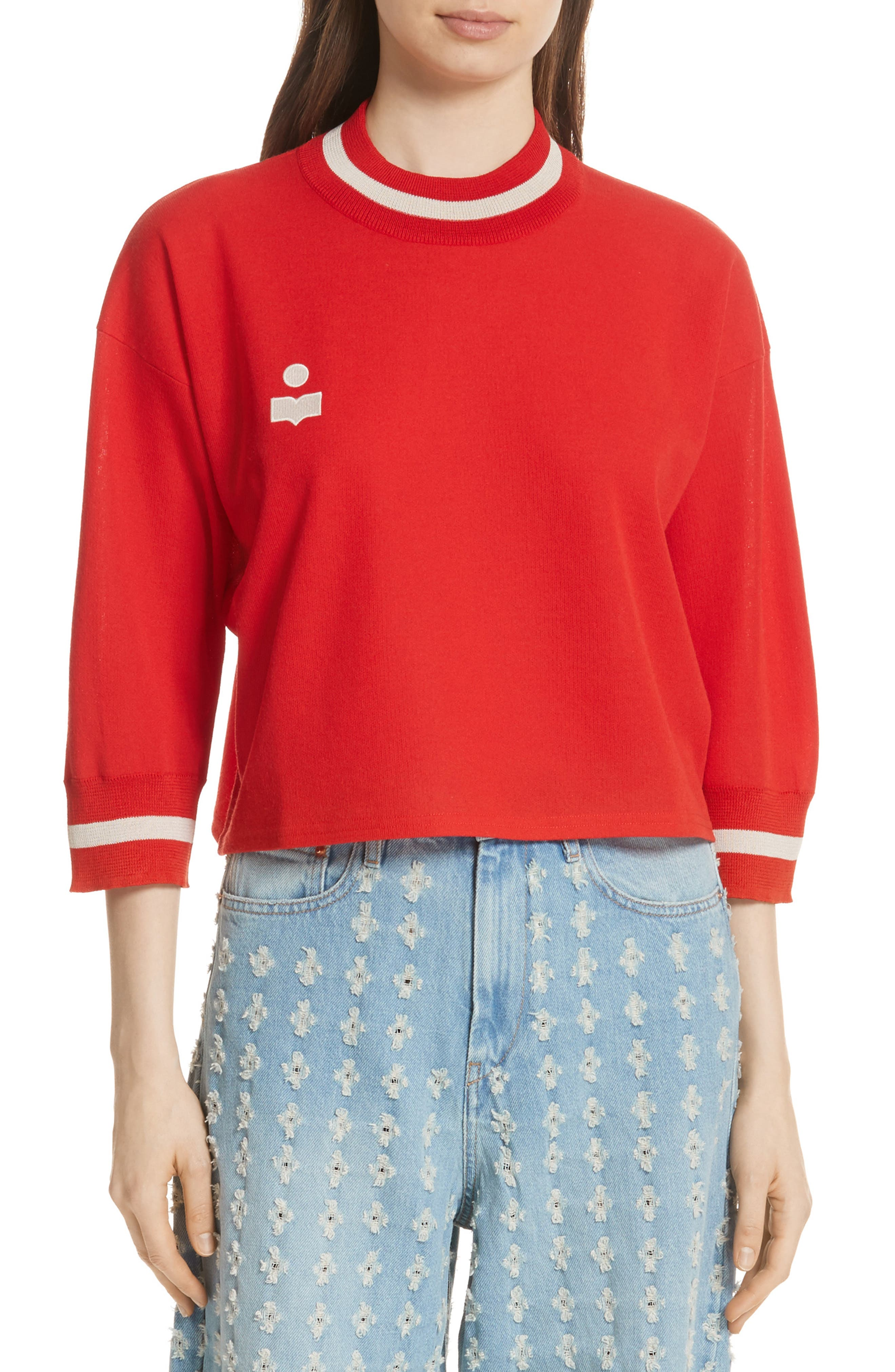 Dayton Crop Sweatshirt,                             Main thumbnail 1, color,                             600