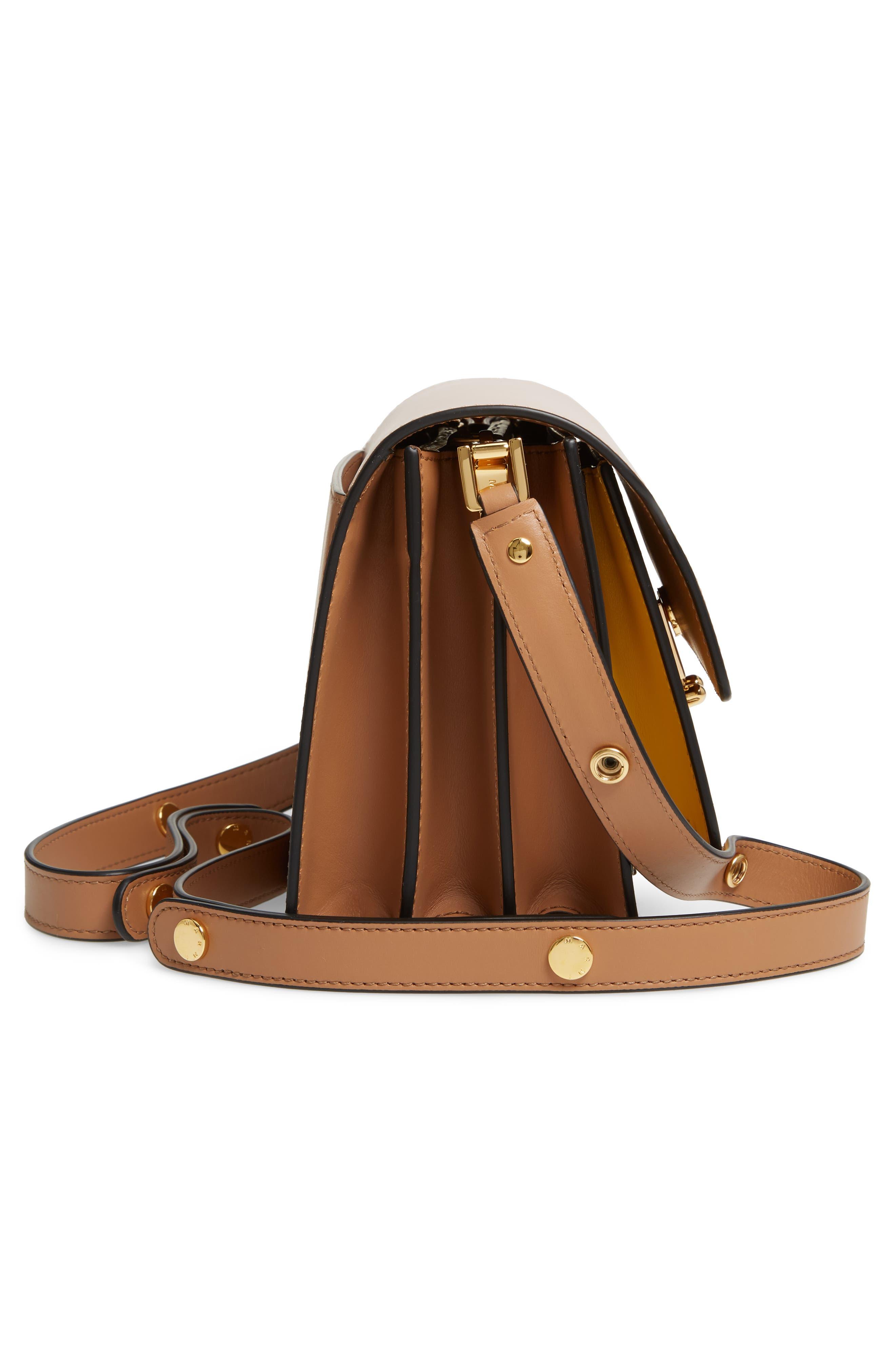 MARNI,                             Trunk Colorblock Leather Shoulder Bag,                             Alternate thumbnail 5, color,                             QUARTZ/ SUNO/ POMPEII