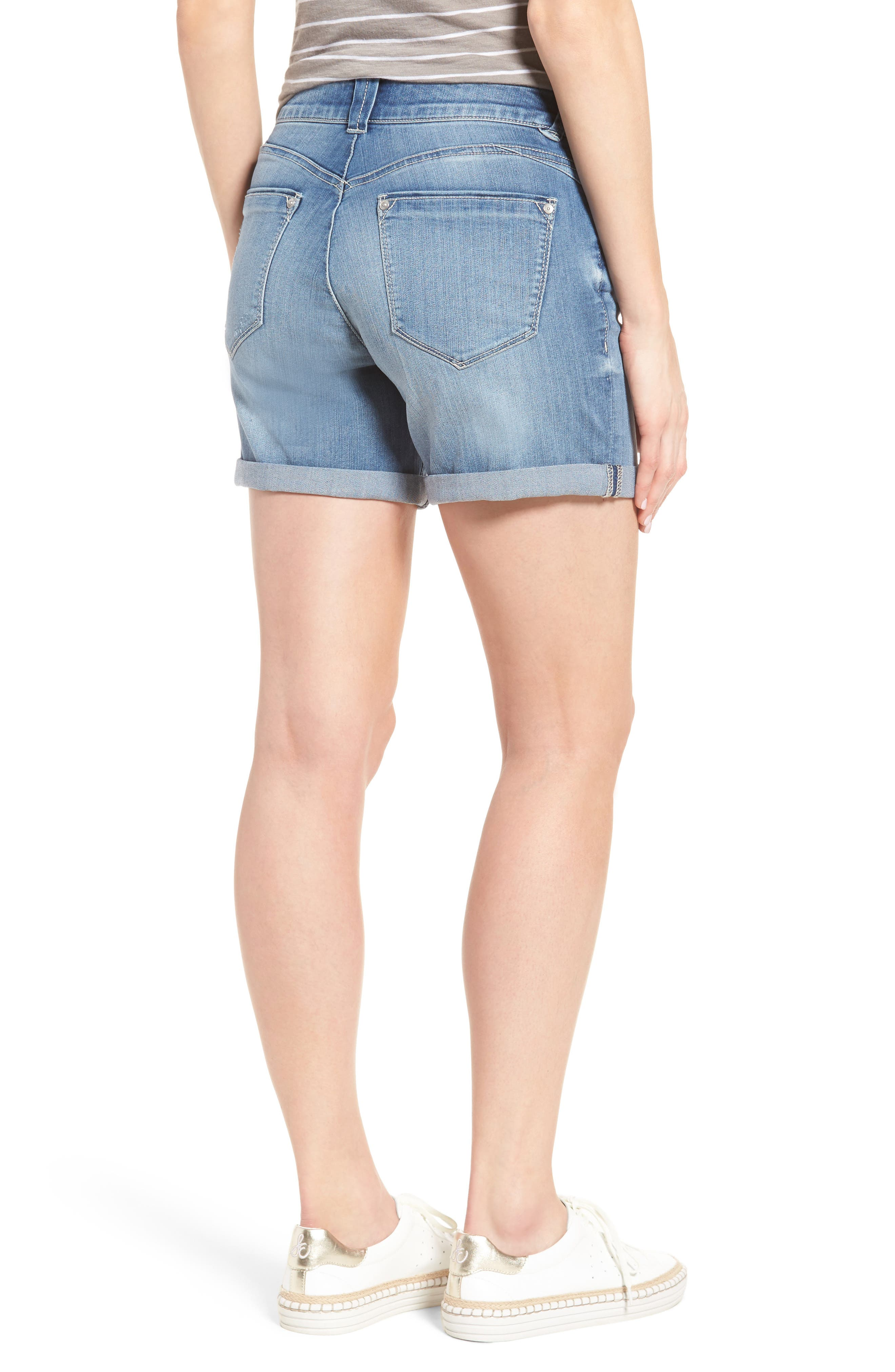 Ab-solution Cuffed Denim Shorts,                             Alternate thumbnail 2, color,                             458