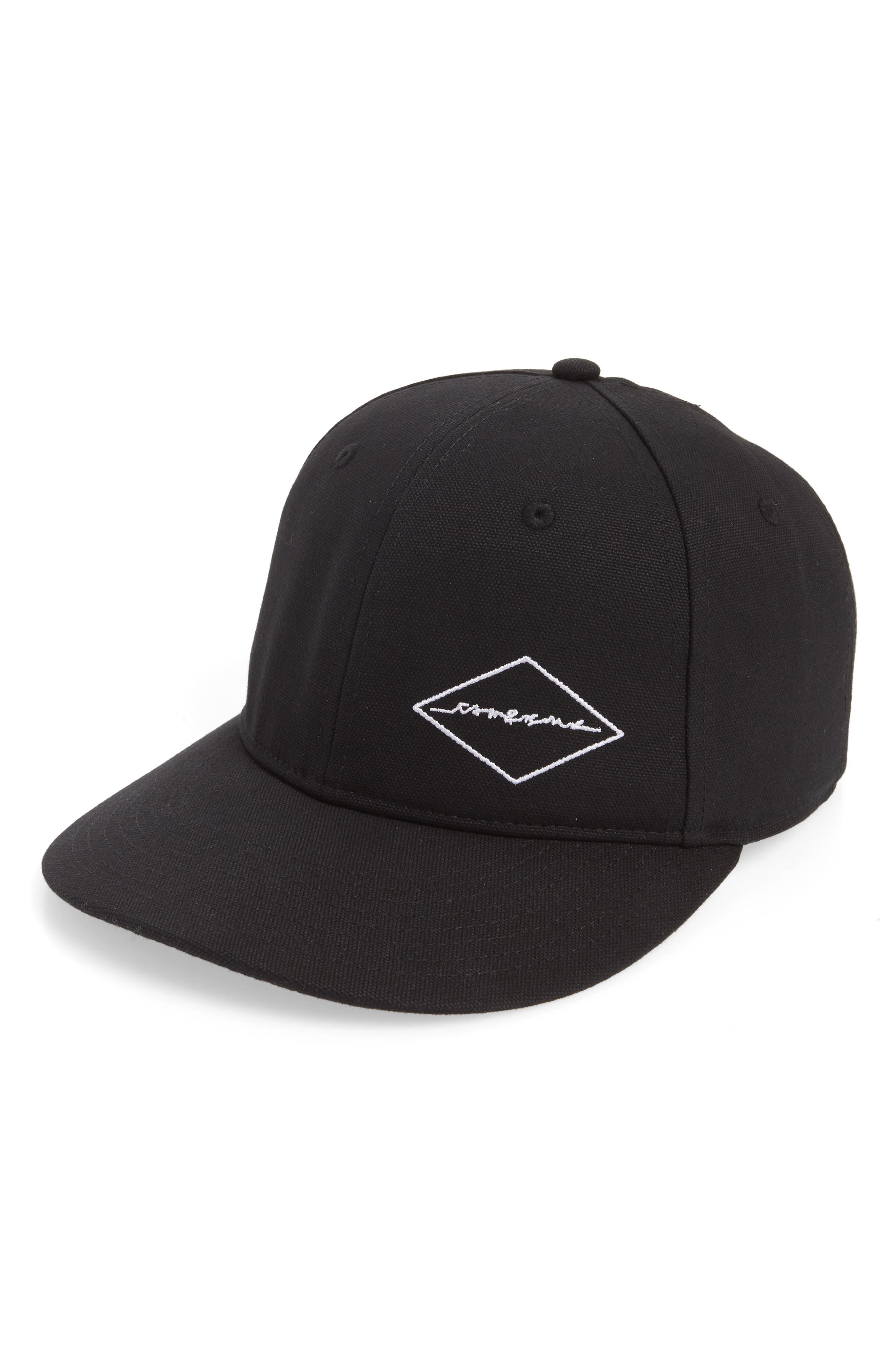 Dylan Canvas Baseball Cap,                         Main,                         color, BLACK DIAMOND