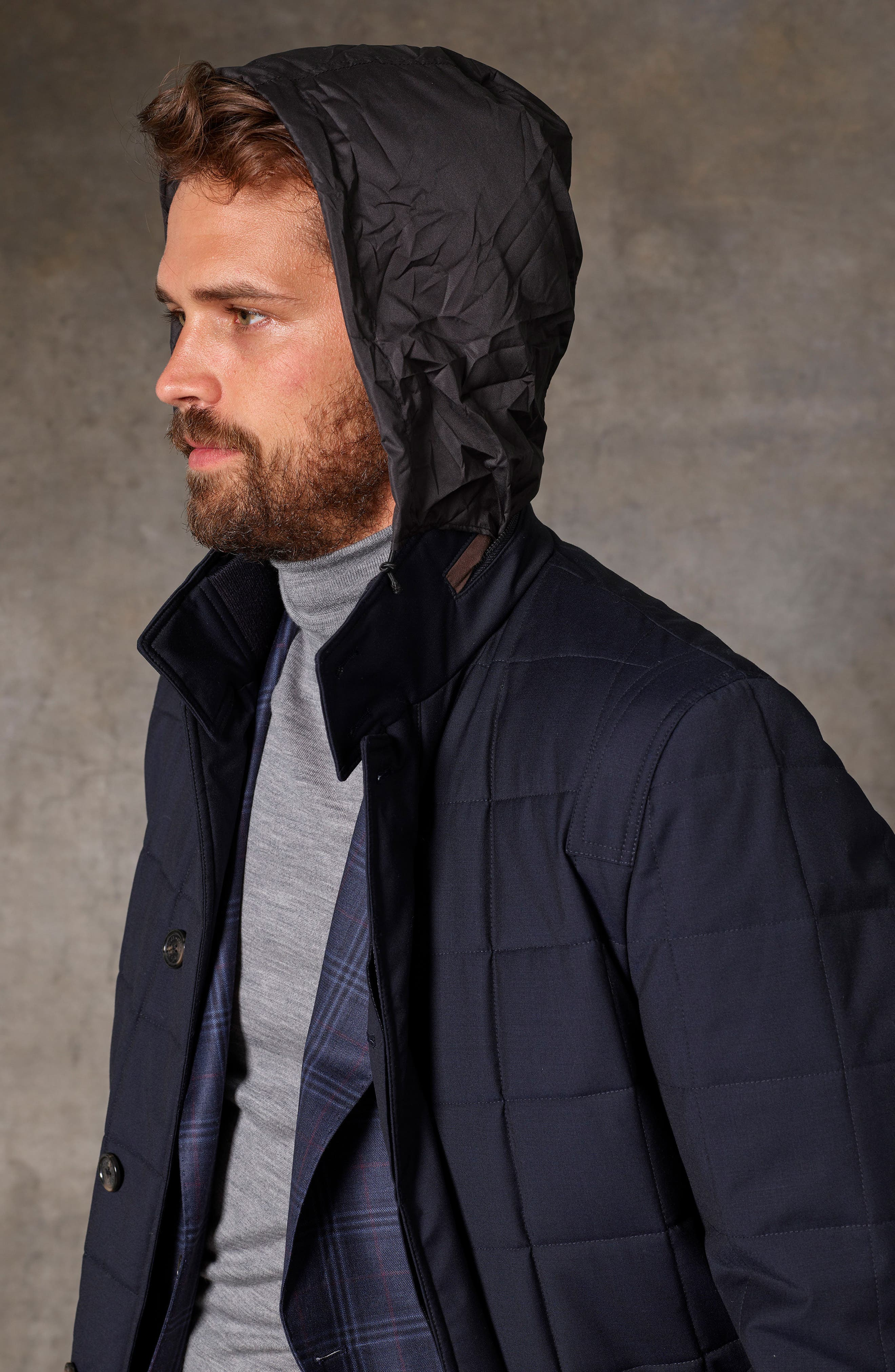 Quilted Wool Parka,                             Alternate thumbnail 8, color,                             410