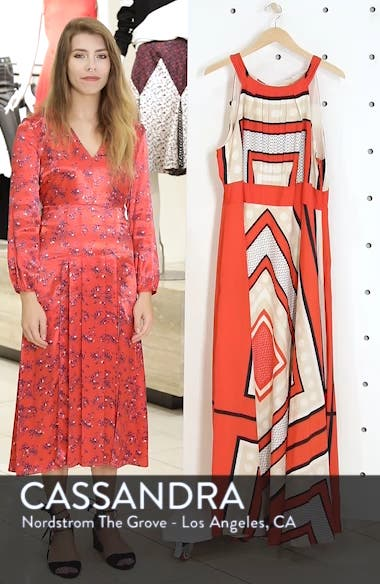 Halter Scarf Print Woven Maxi Dress, sales video thumbnail