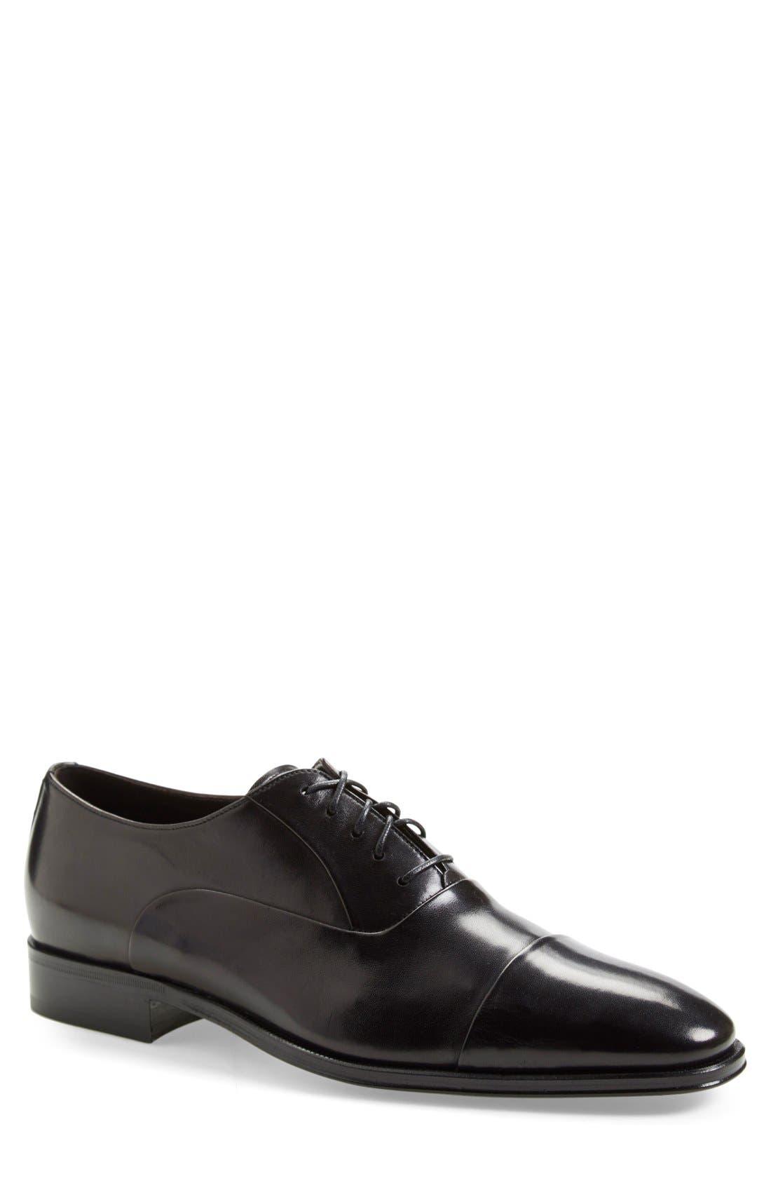 Lazio Cap-Toe Oxford,                         Main,                         color, BLACK