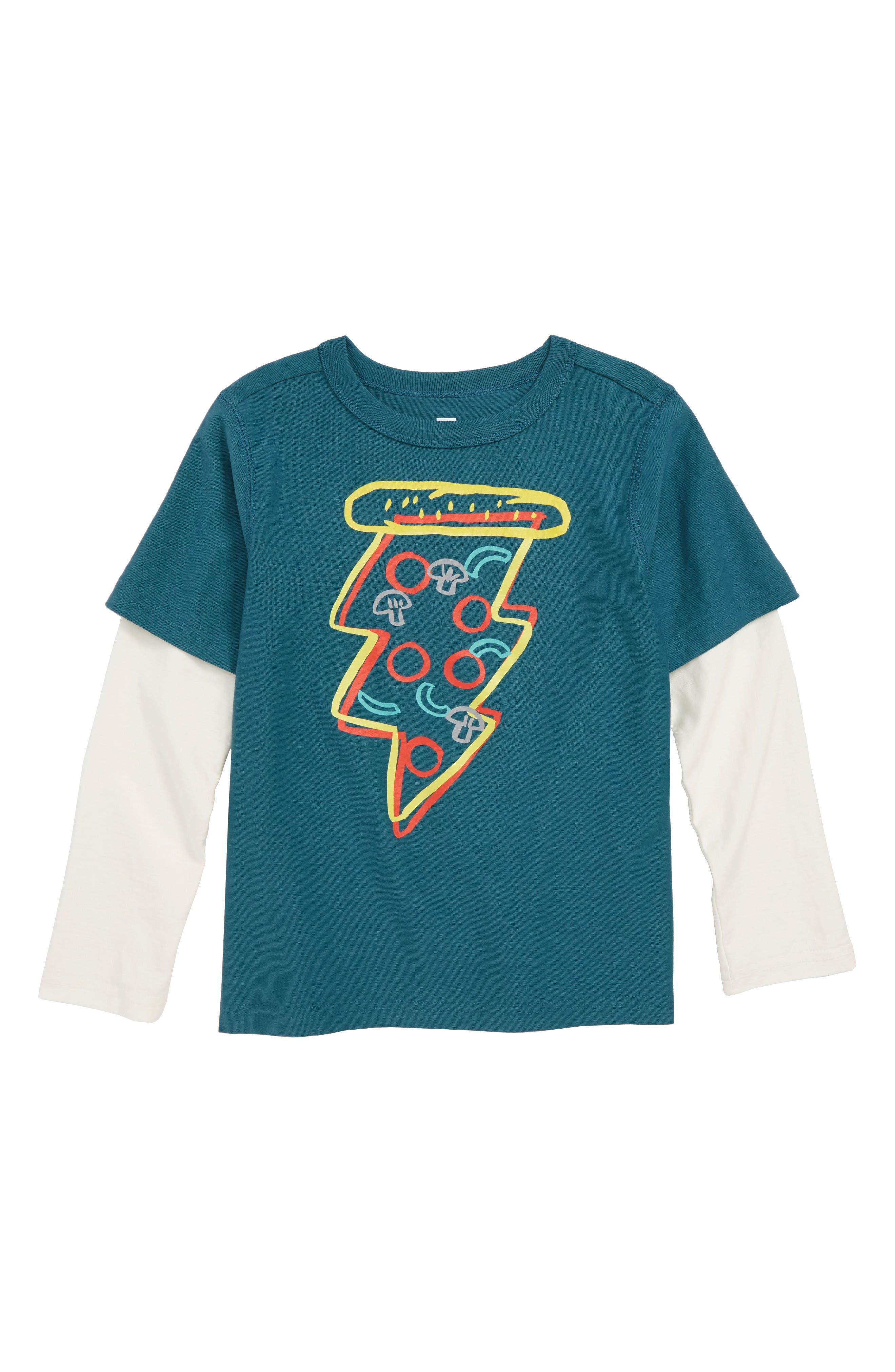 Pizza Layer T-Shirt,                             Main thumbnail 1, color,                             463