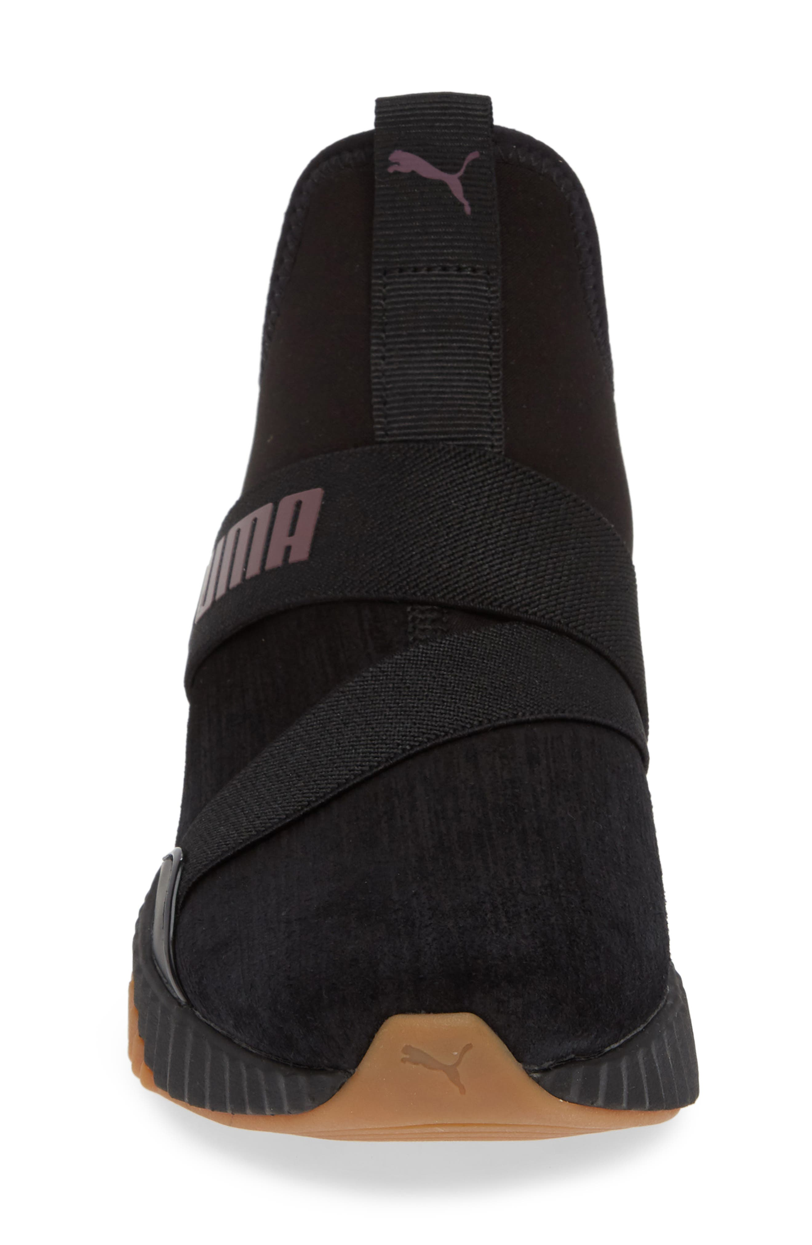 Defy Mid Luxe Sneaker,                             Alternate thumbnail 4, color,                             PUMA BLACK/ FIG