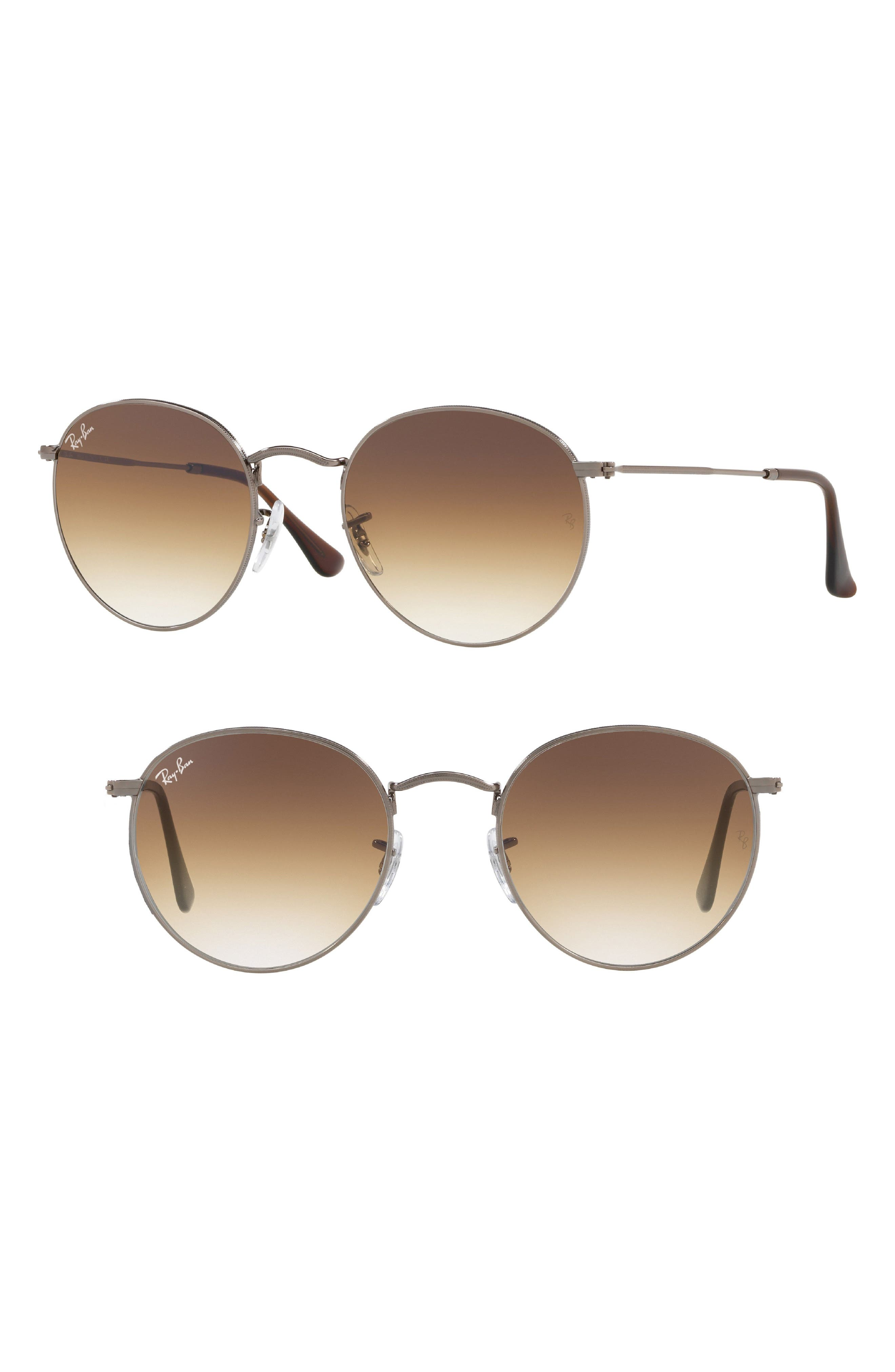53mm Round Retro Sunglasses,                             Main thumbnail 1, color,                             062