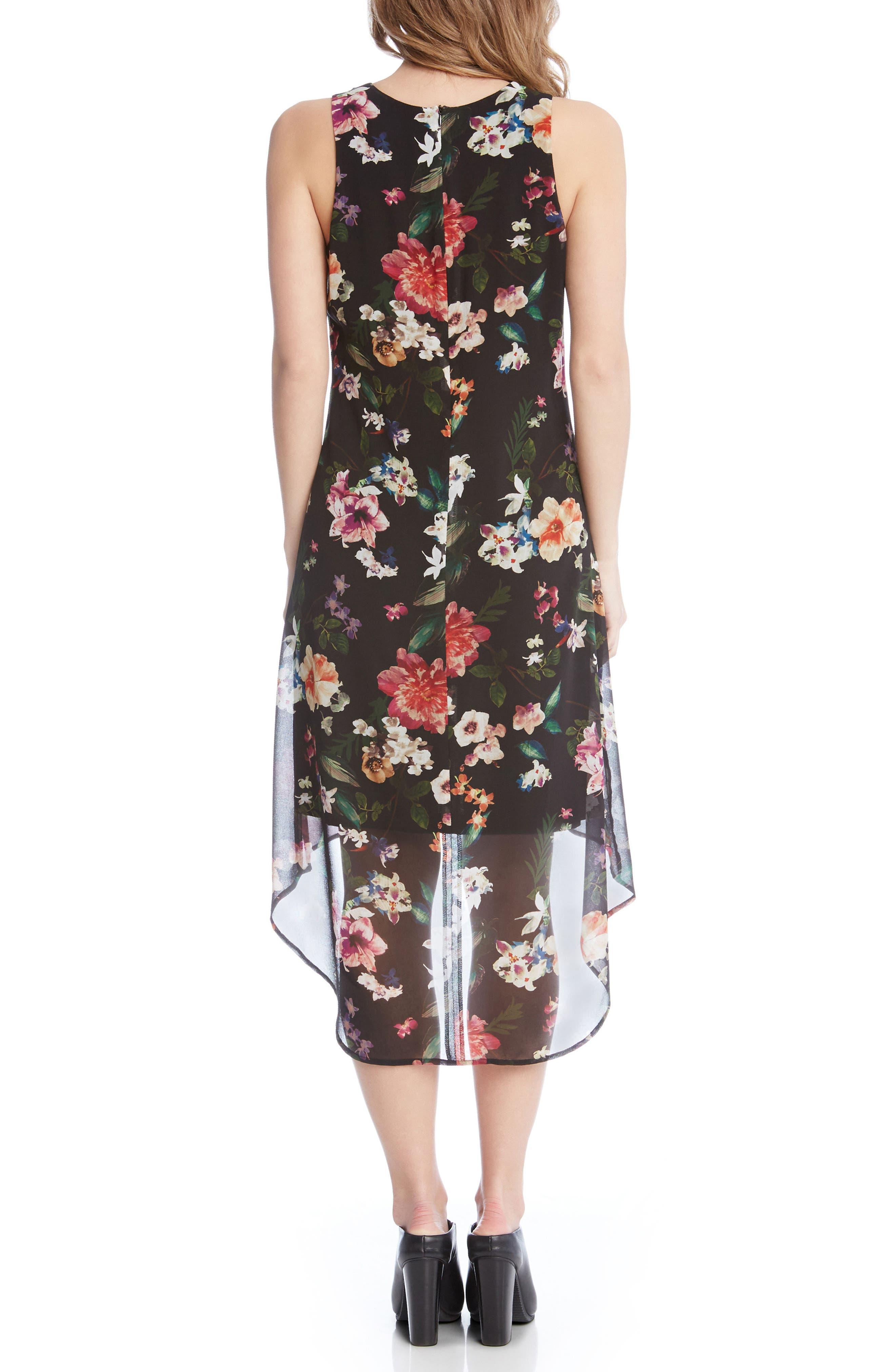Floral High/Low A-Line Dress,                             Alternate thumbnail 2, color,                             560