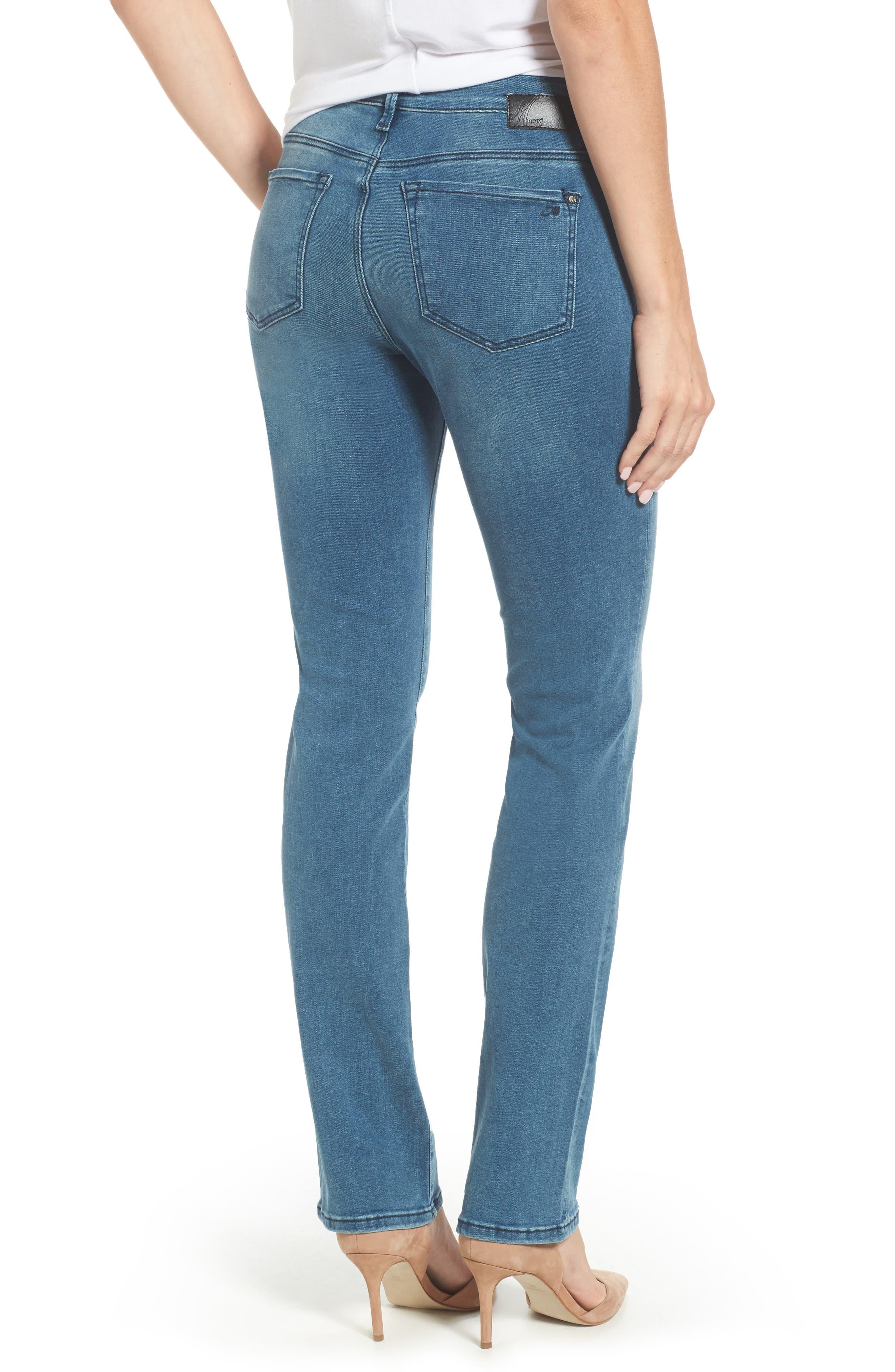 Kendra High Waist Straight Leg Jeans,                             Alternate thumbnail 2, color,                             420