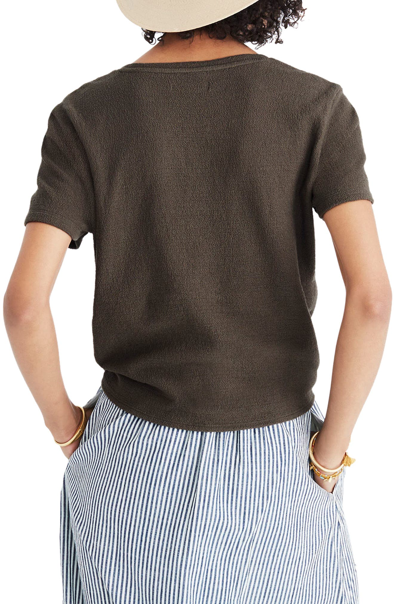 MADEWELL,                             Modern Tie Front Tee,                             Alternate thumbnail 2, color,                             300