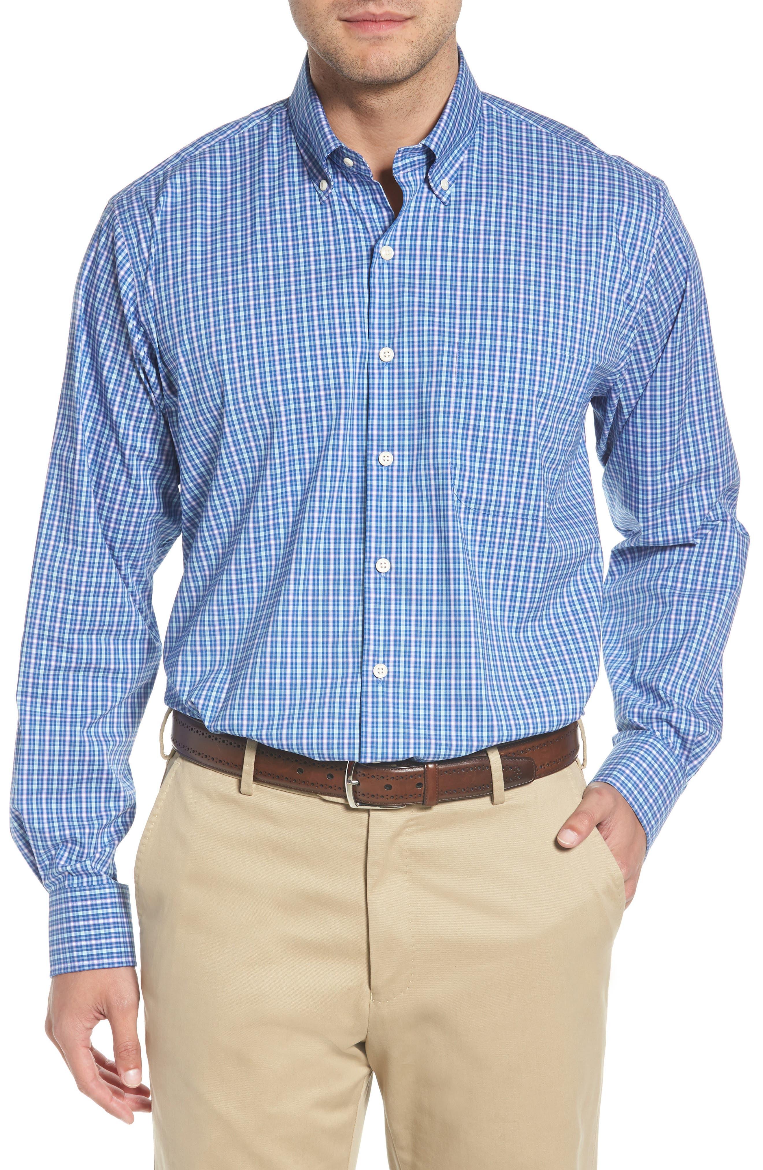 Crown Comfort Finch Multicheck Sport Shirt,                         Main,                         color, 422