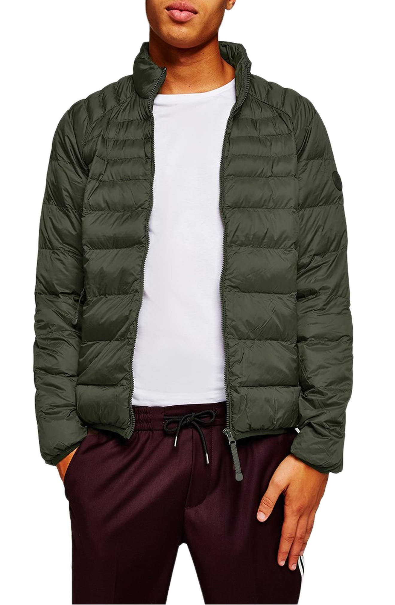 Mitchell Quiilted Nylon Jacket,                         Main,                         color, GREEN