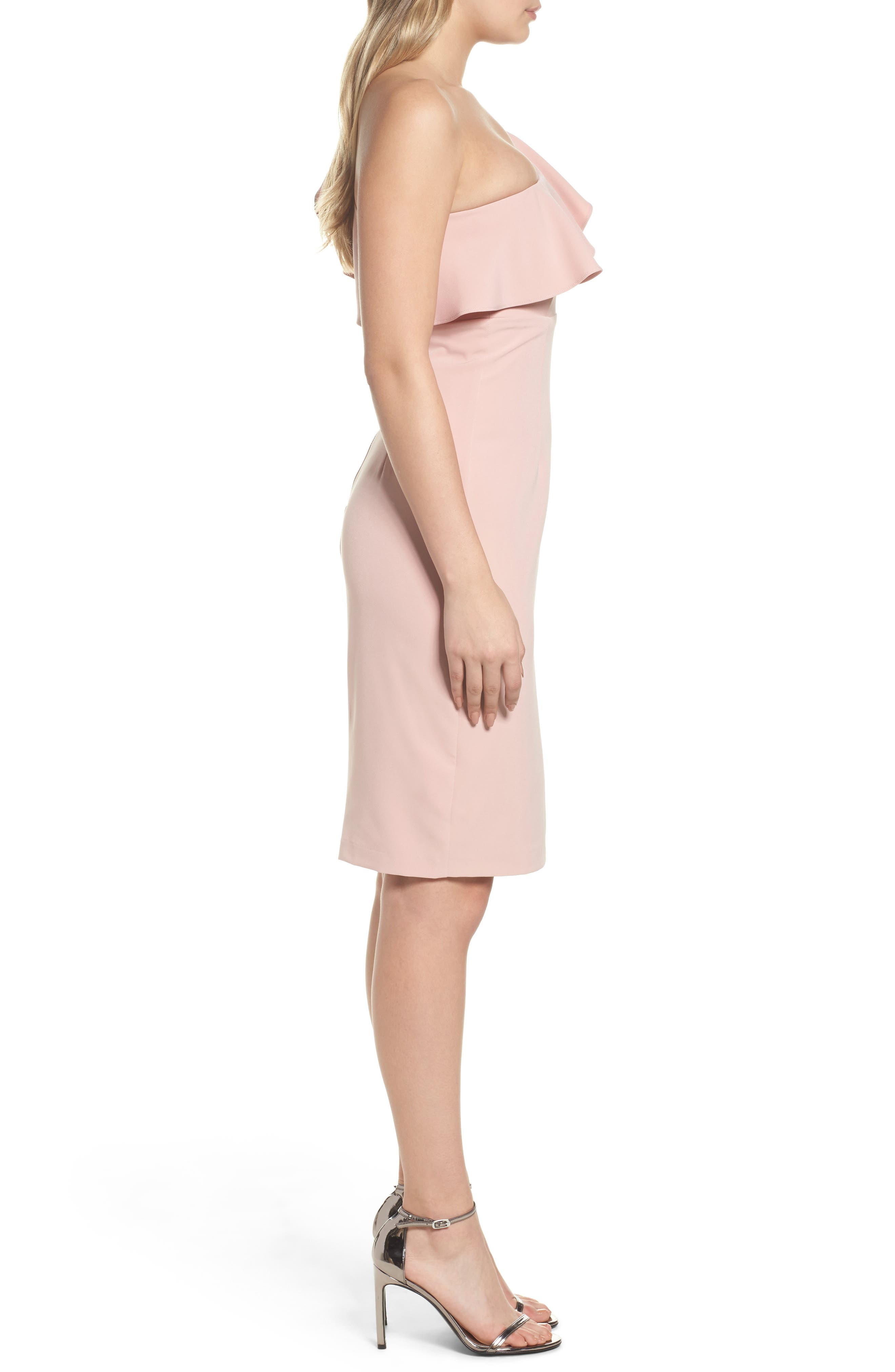 One-Shoulder Ruffle Sheath Dress,                             Alternate thumbnail 6, color,