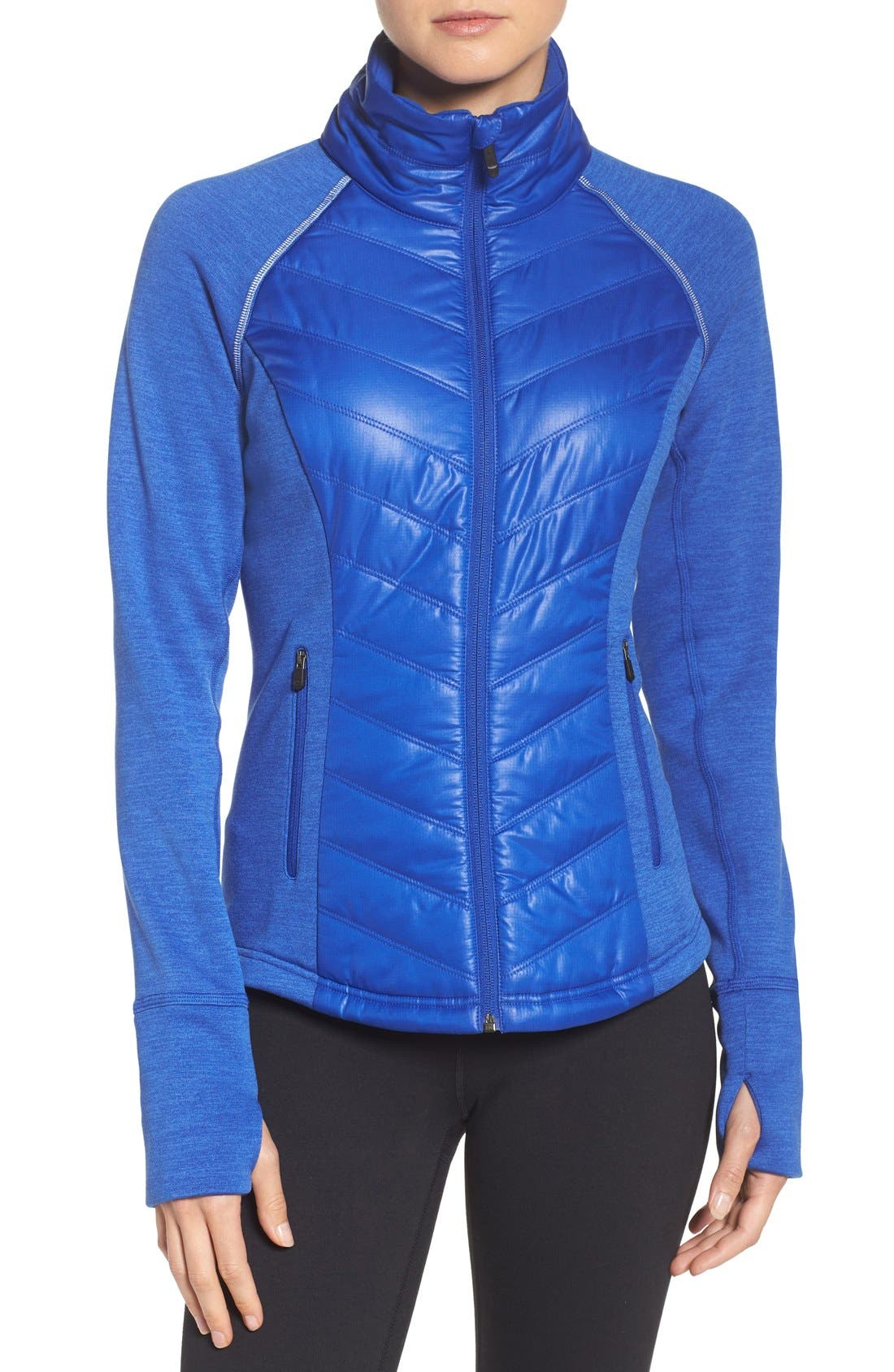 Zelfusion Reflective Quilted Jacket,                             Main thumbnail 10, color,