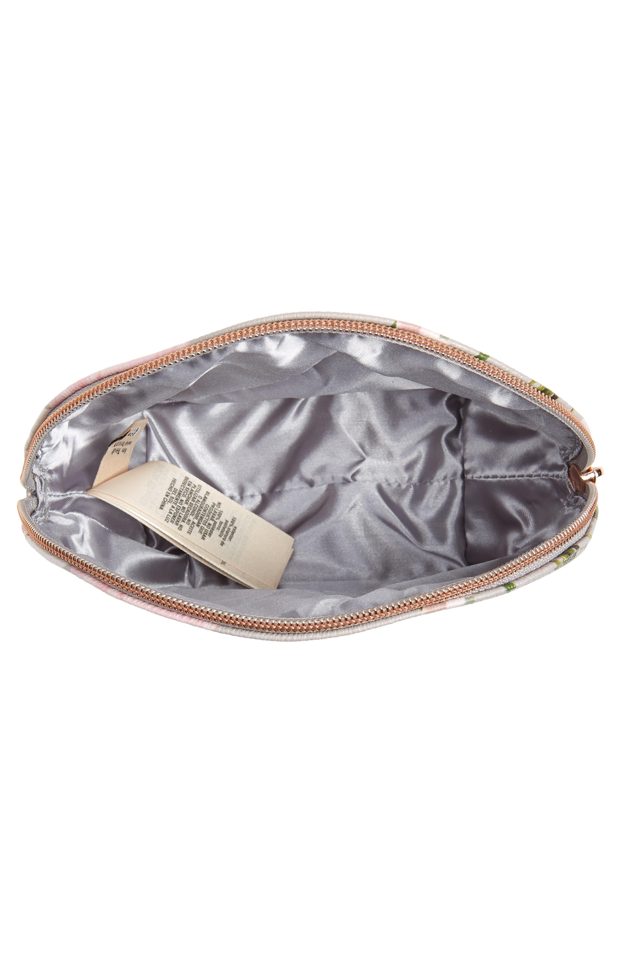 Margita Chatsworth Bloom Cosmetic Bag,                             Alternate thumbnail 3, color,                             020