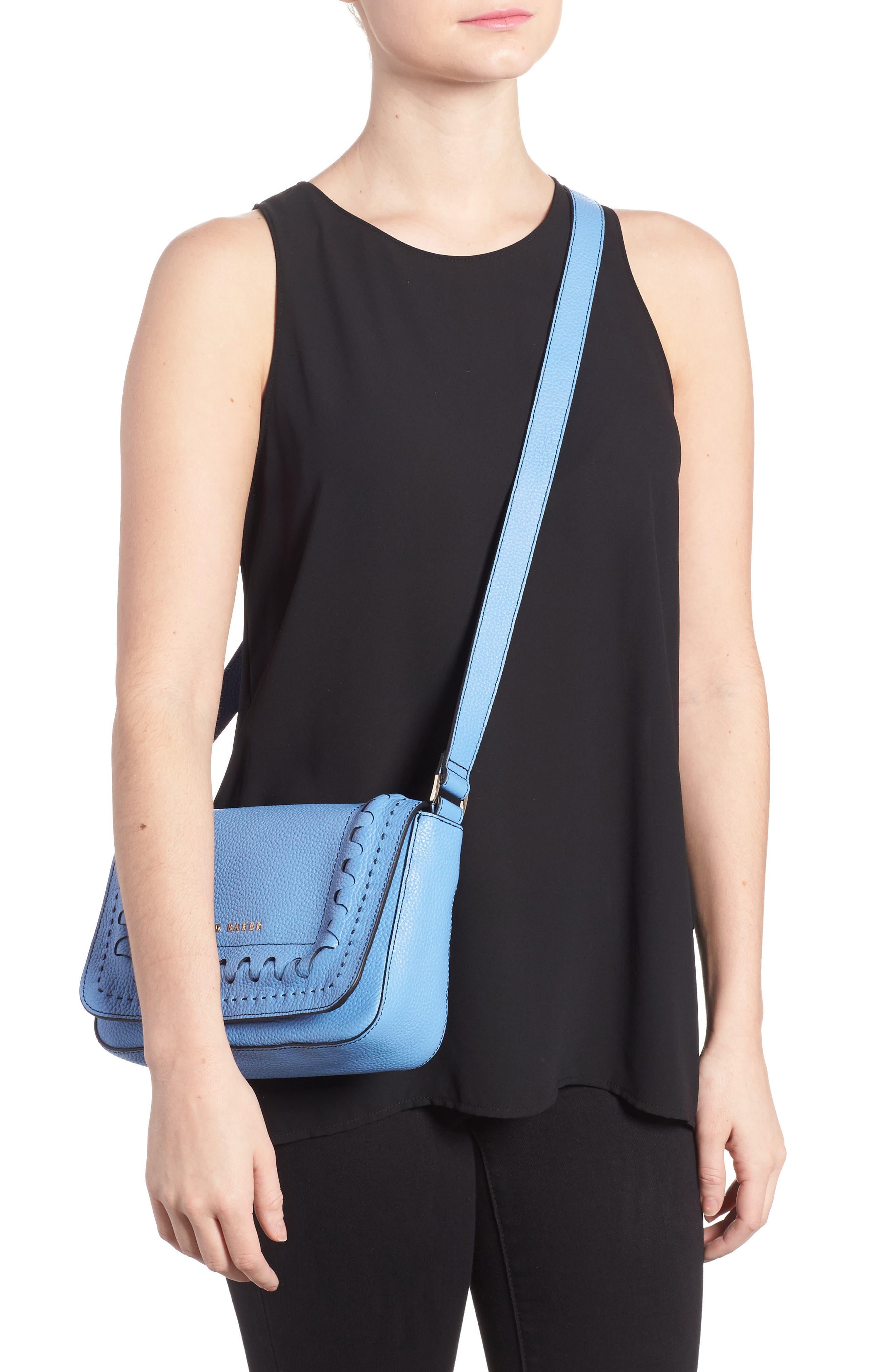Tippi Leather Crossbody Bag,                             Alternate thumbnail 5, color,