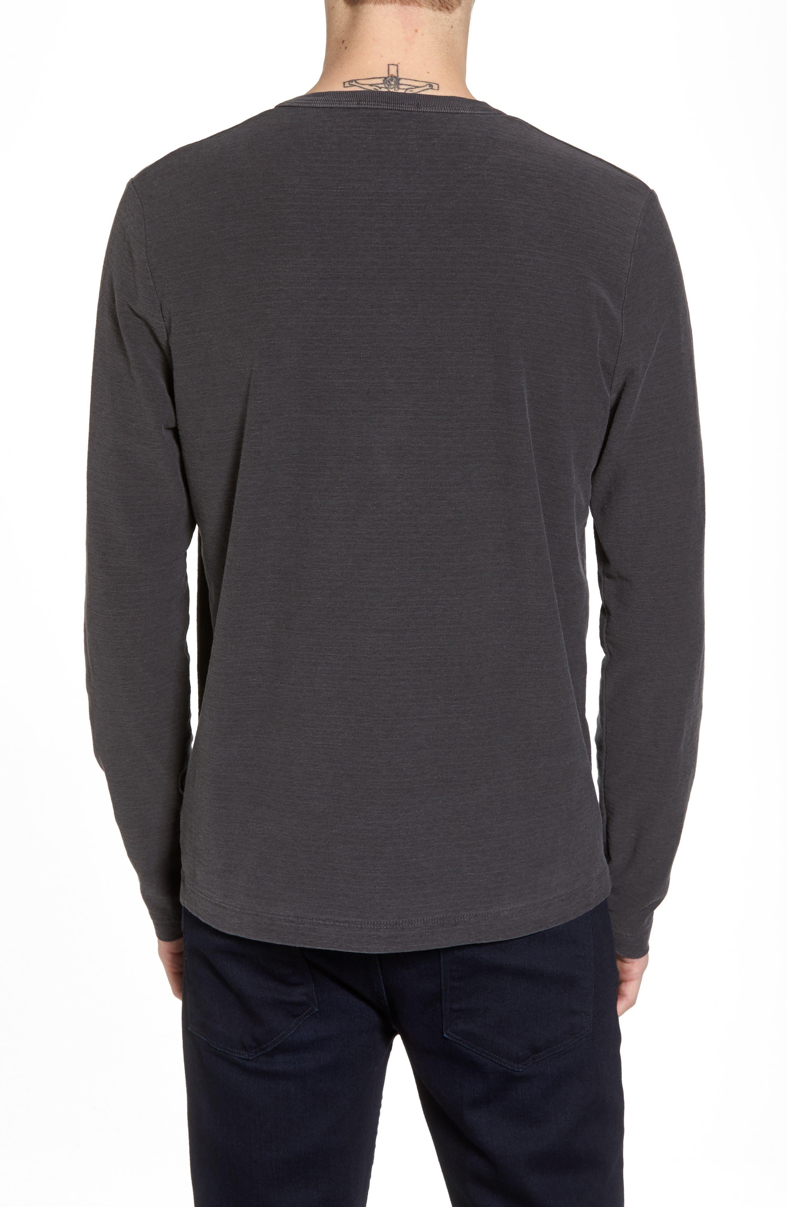 Regular Fit Micro Stripe Henley Shirt,                             Alternate thumbnail 2, color,                             020