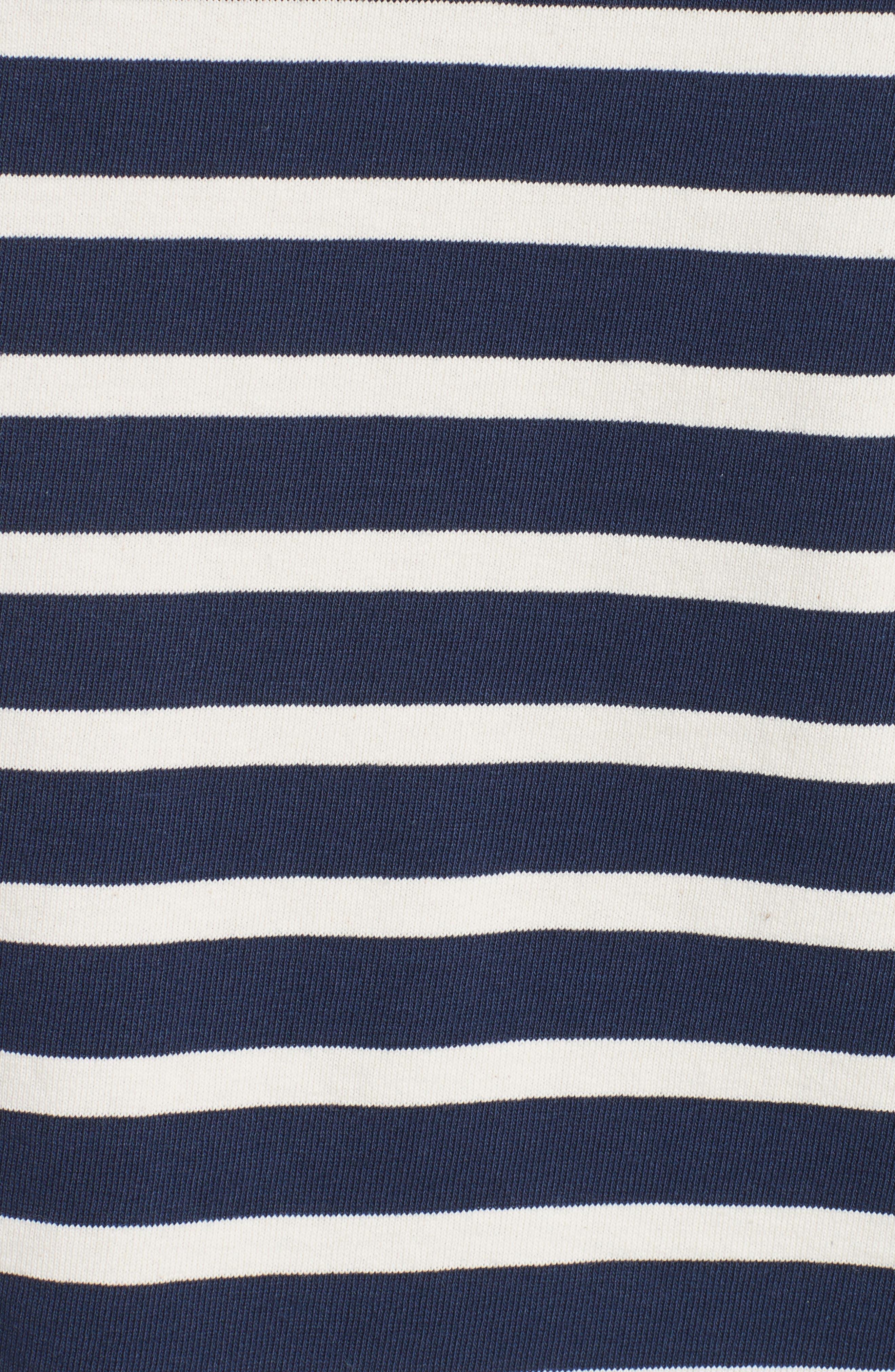 Reverse Breton Stripe Bell Sleeve Top,                             Alternate thumbnail 6, color,