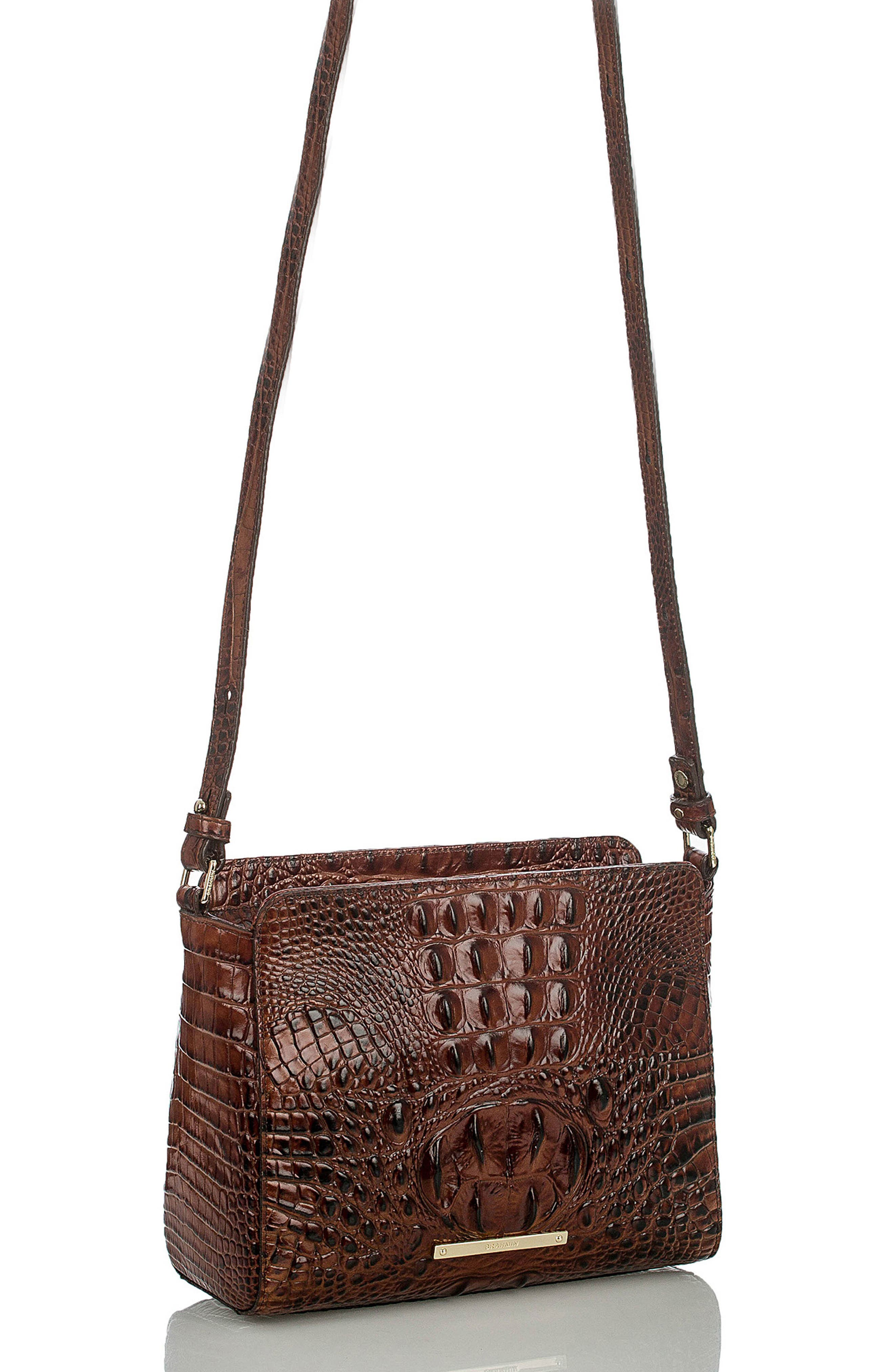 Melbourne Carrie Leather Crossbody Bag,                             Alternate thumbnail 14, color,