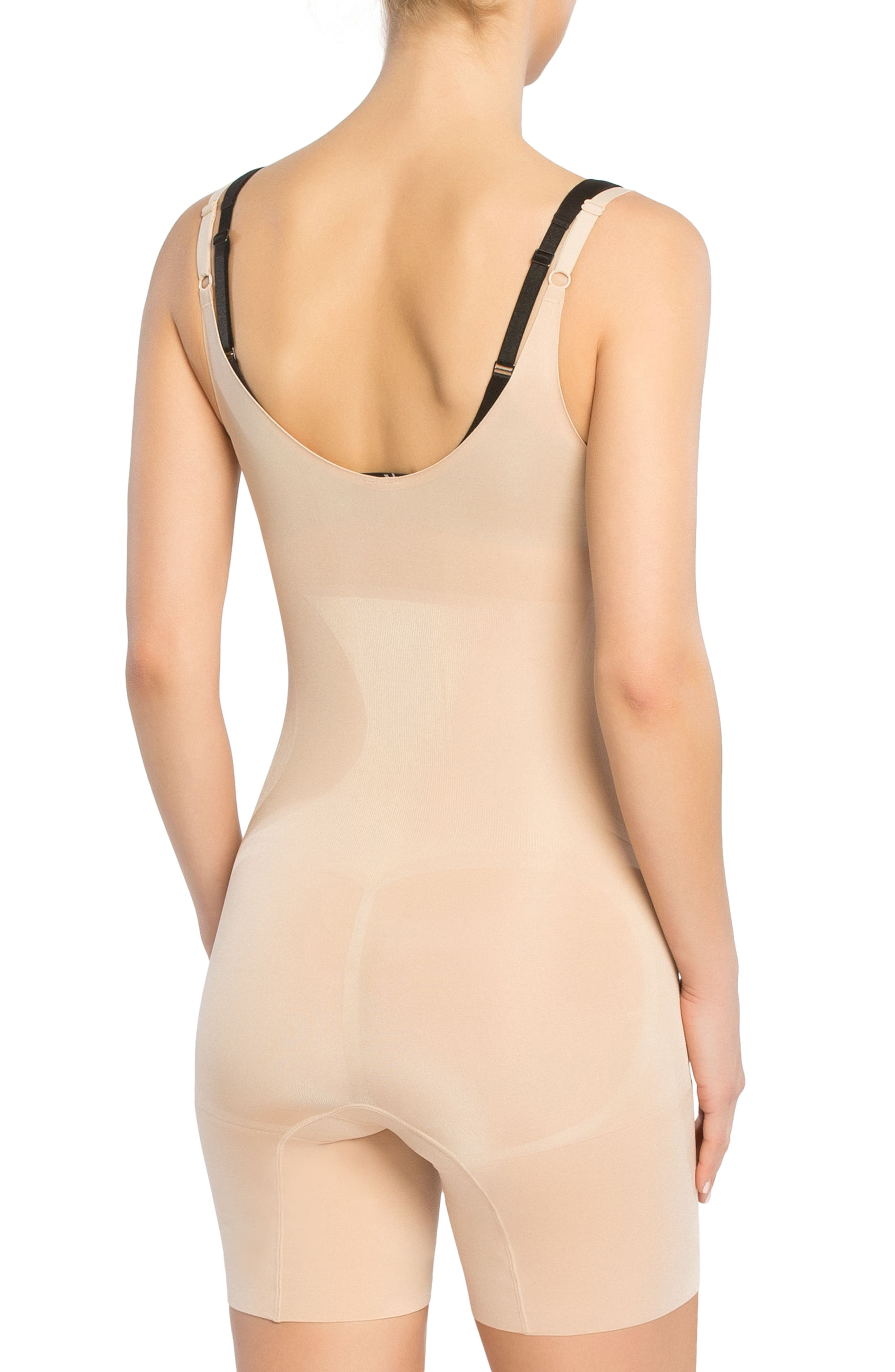 OnCore Open-Bust Mid-Thigh Shaper Bodysuit,                             Alternate thumbnail 4, color,