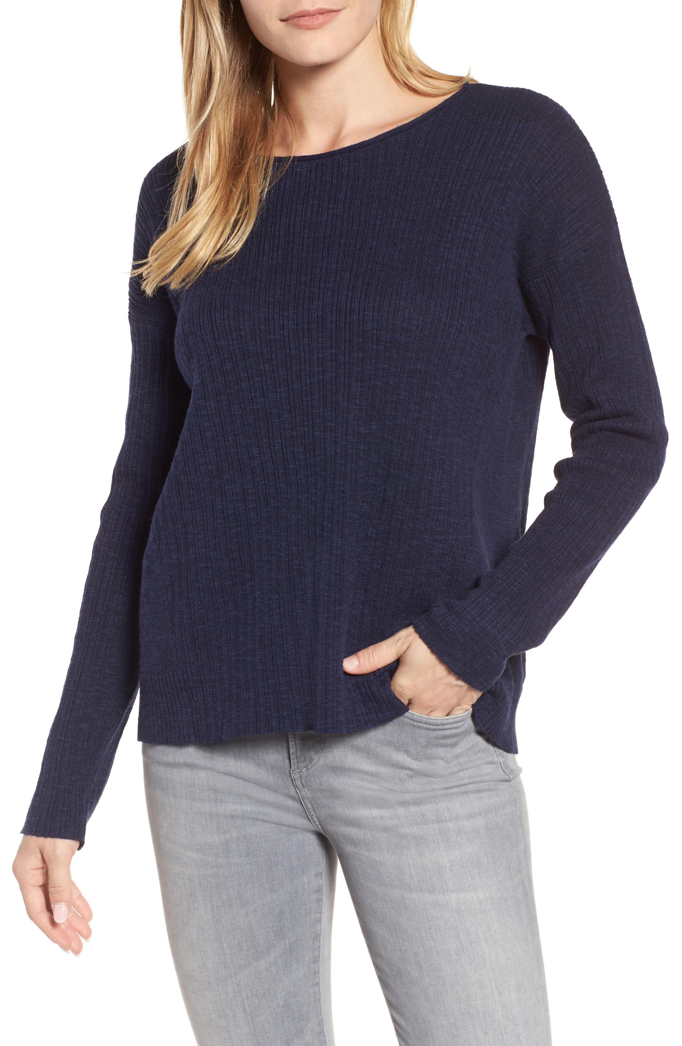 Organic Linen & Cotton Crewneck Sweater,                             Main thumbnail 5, color,