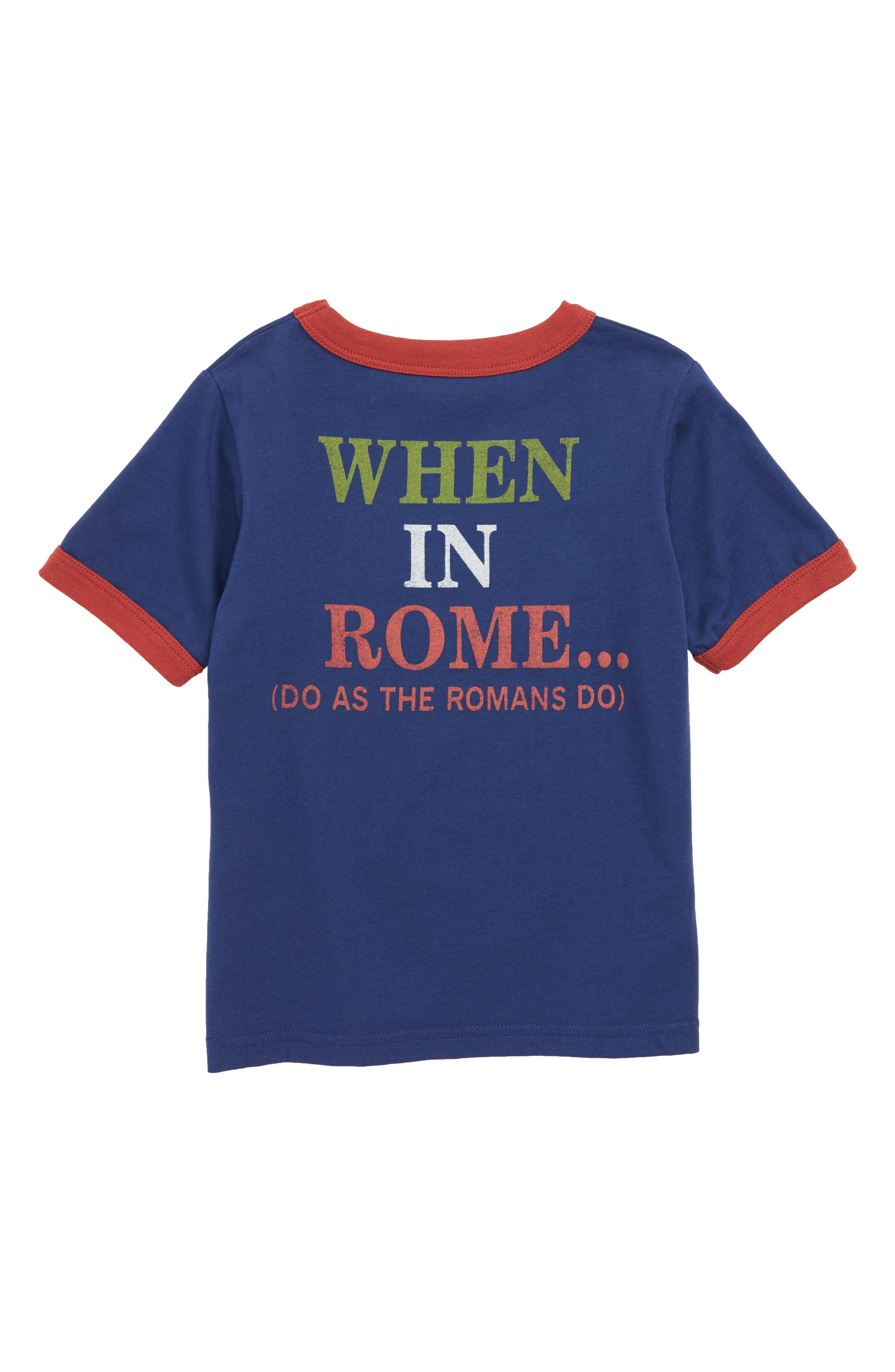 Italia Graphic T-Shirt,                             Alternate thumbnail 2, color,                             410