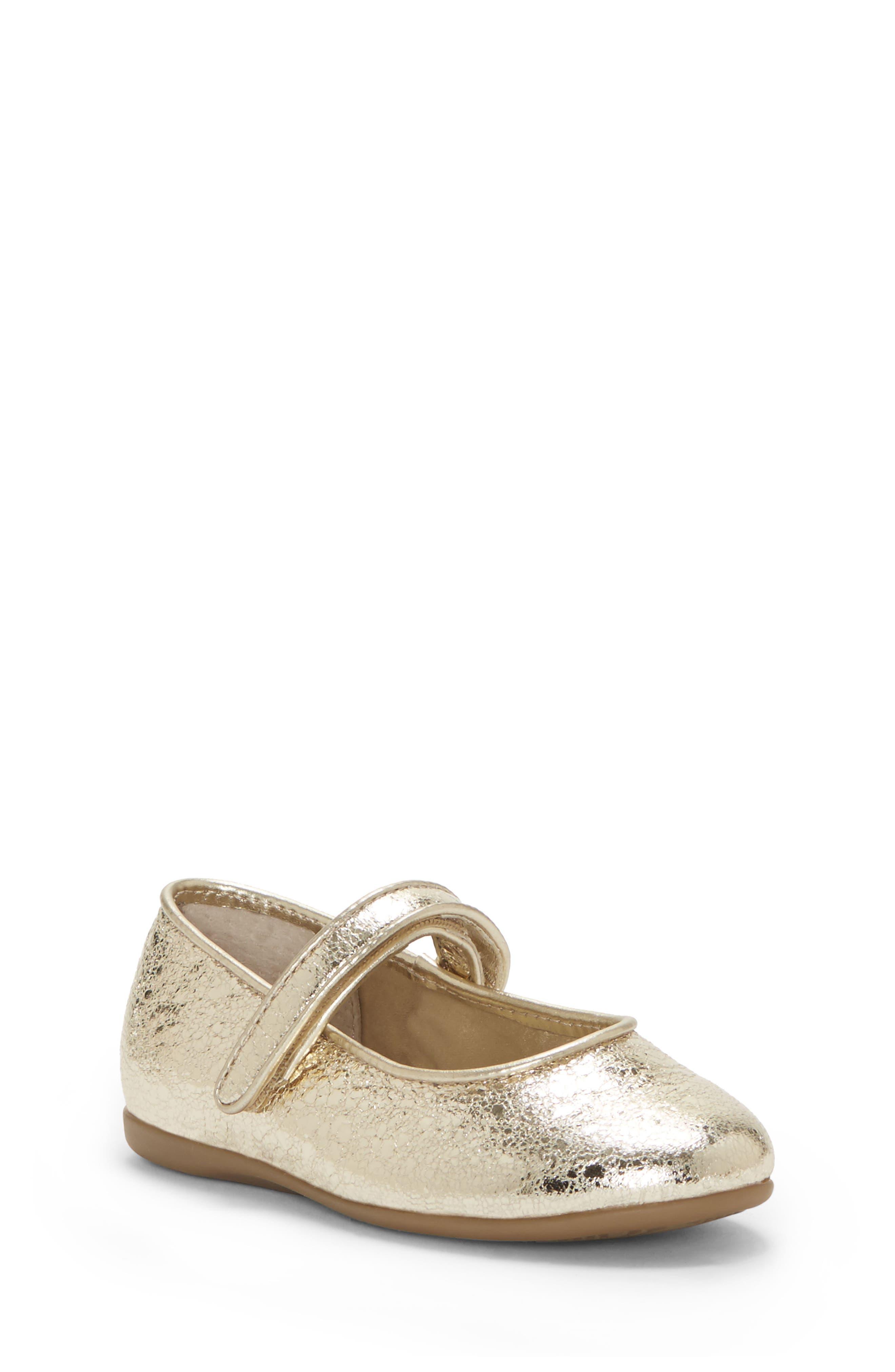 Polina Metallic Mary Jane Flat, Main, color, SOFT GOLD