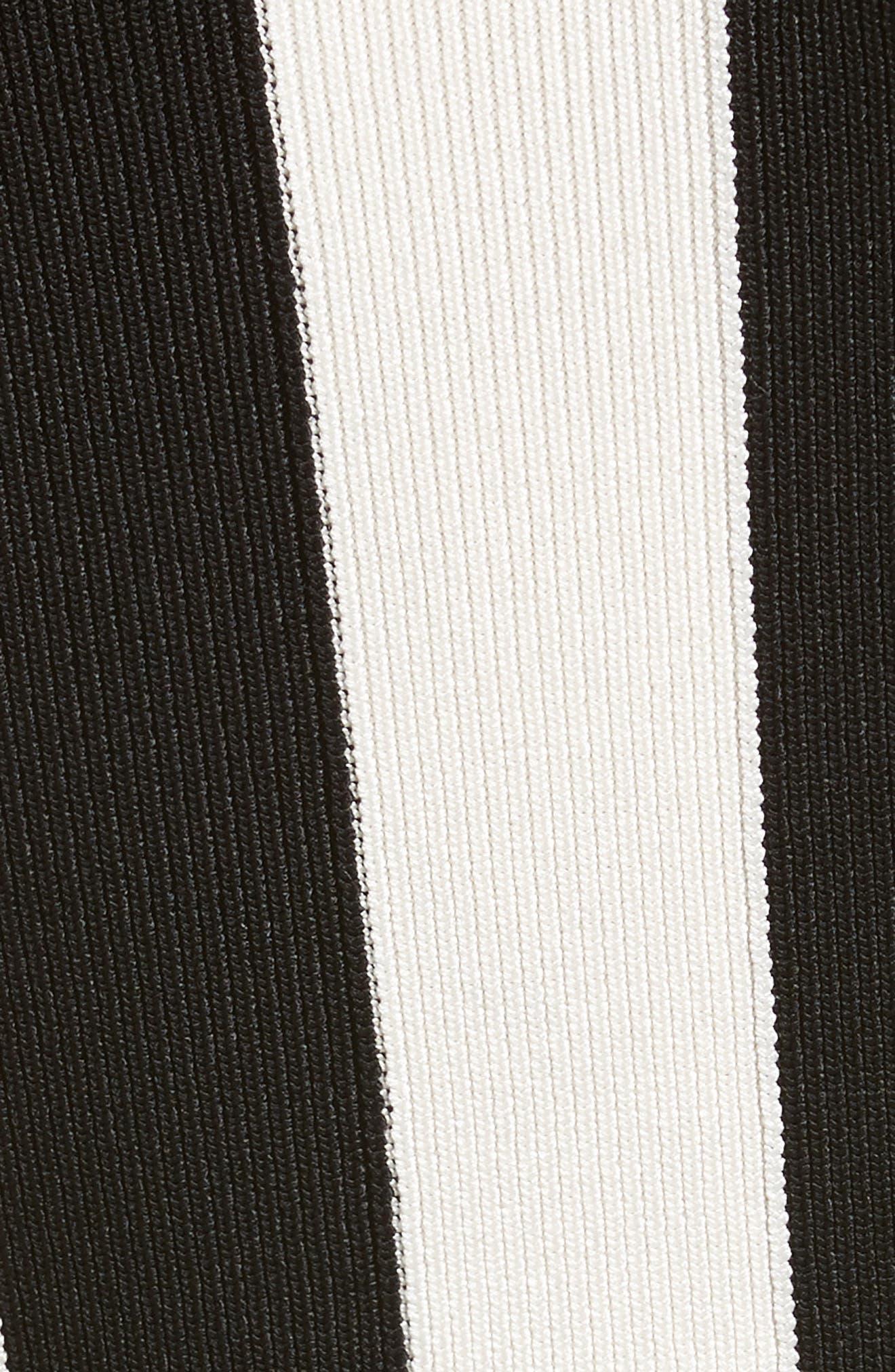 Stripe Turtleneck,                             Alternate thumbnail 5, color,                             001