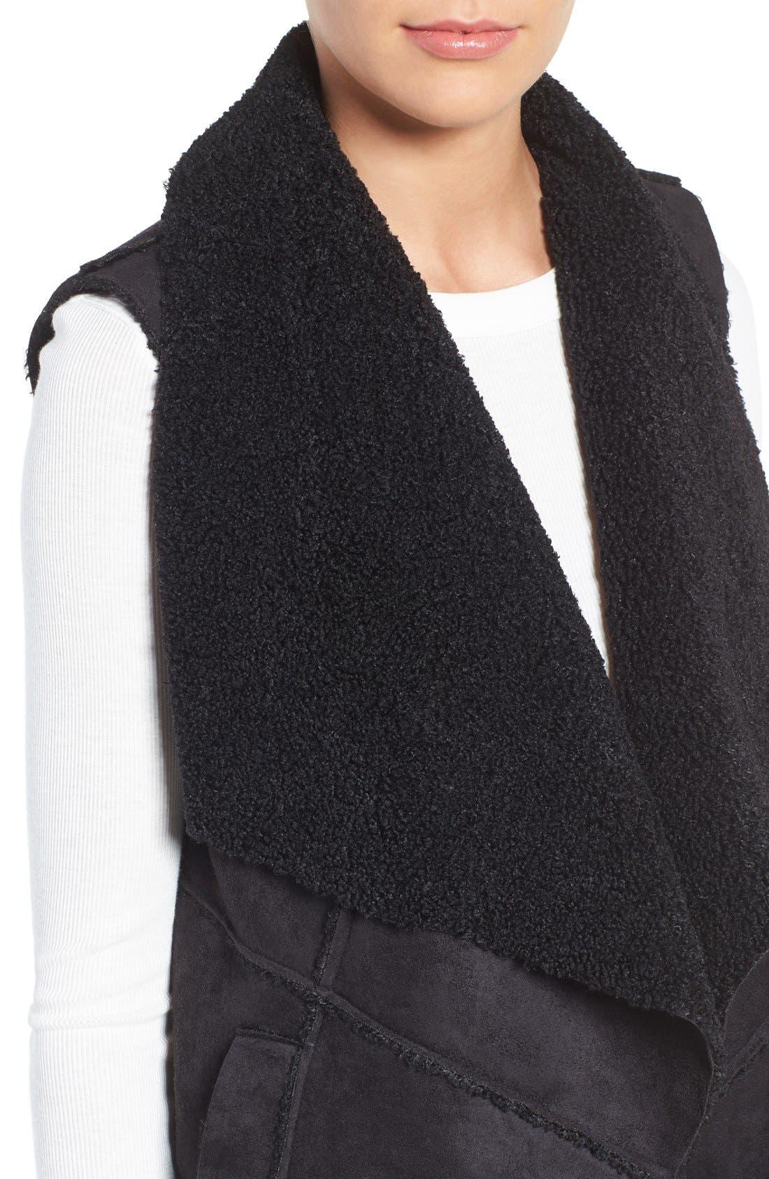 Goslett Faux Shearling Vest,                             Alternate thumbnail 4, color,                             001