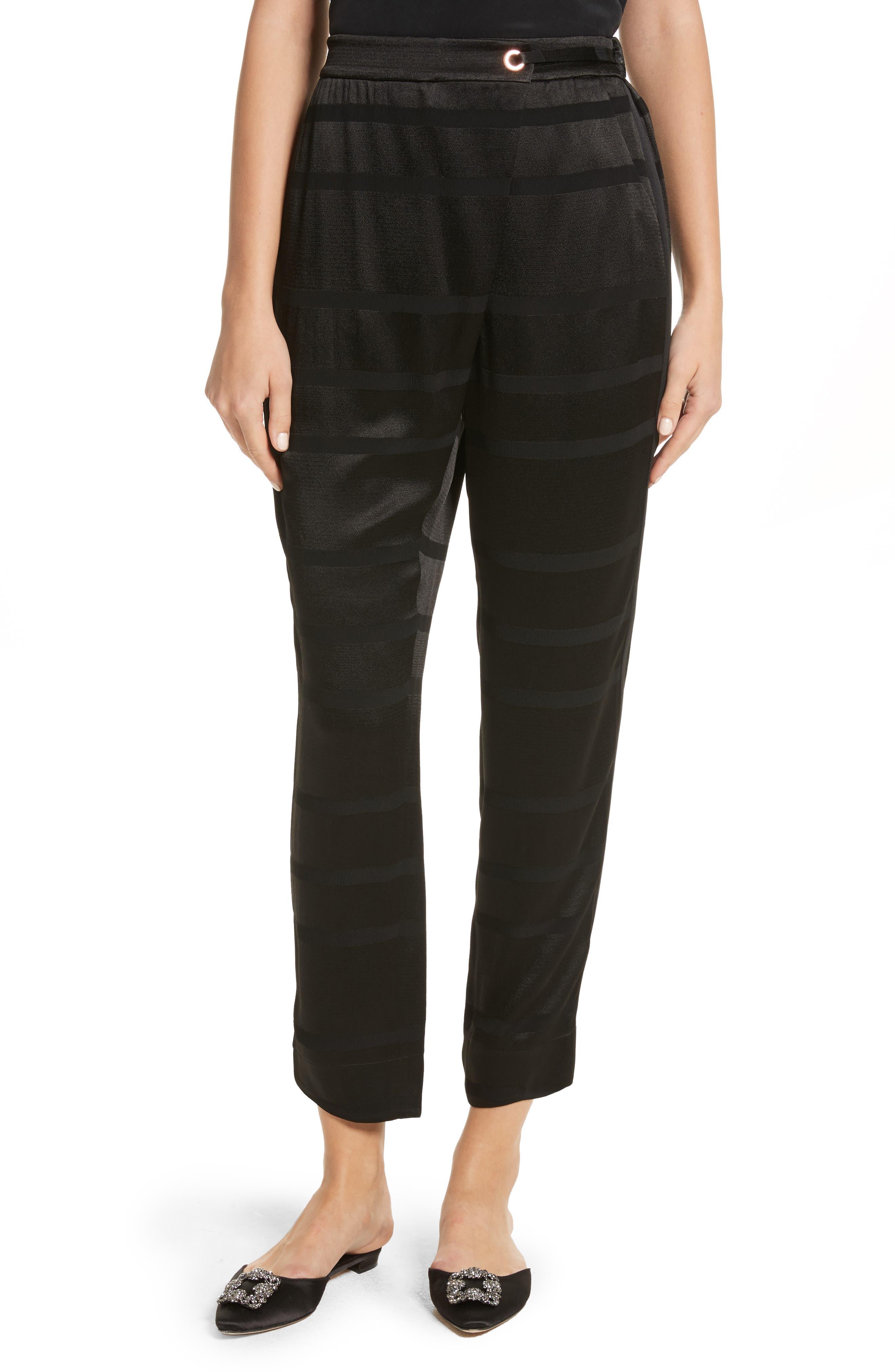 Steller Stripe Wrap Front Pants,                             Main thumbnail 1, color,                             001