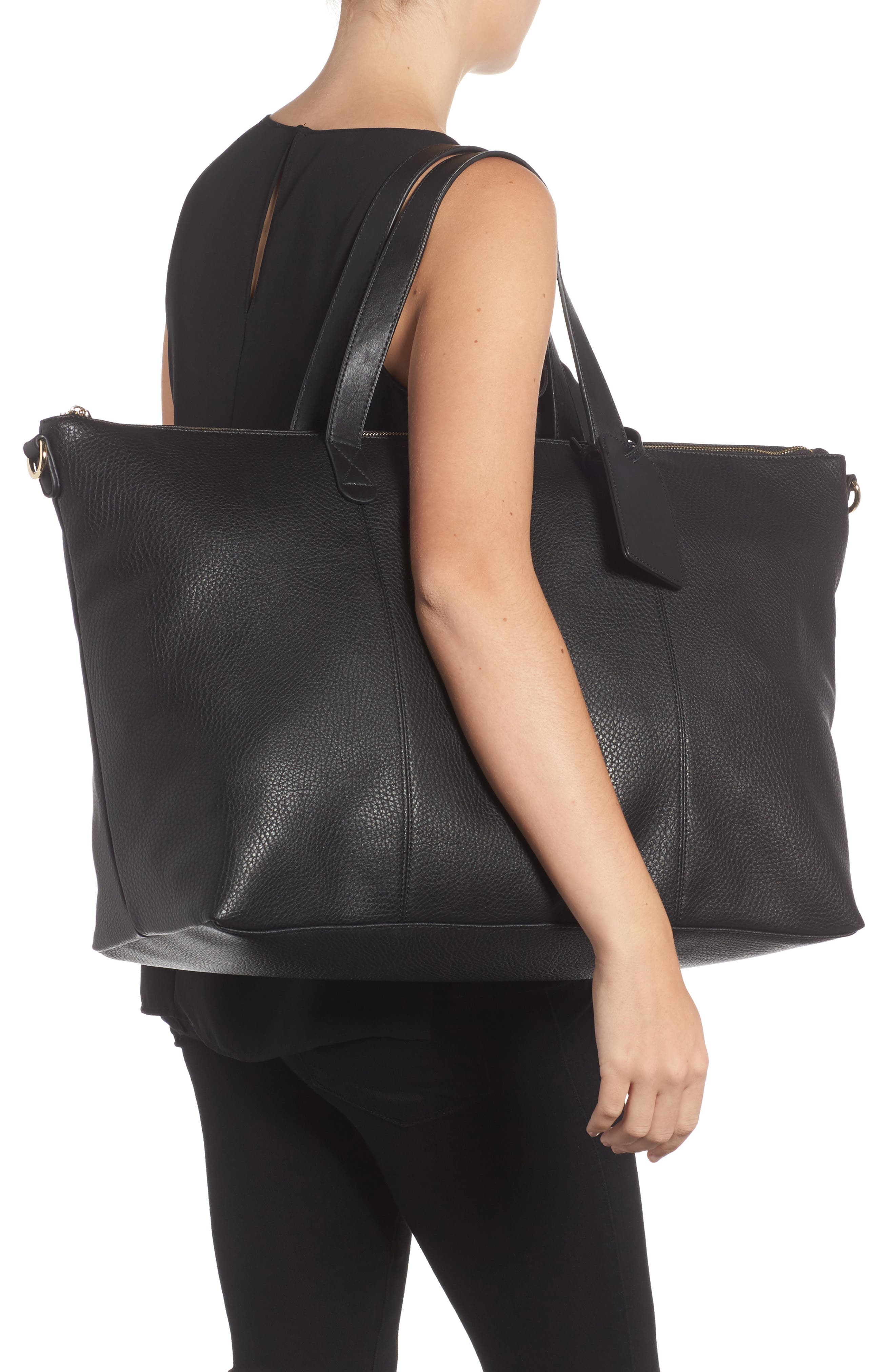 Candice Oversize Travel Tote,                             Alternate thumbnail 2, color,                             NEW BLACK