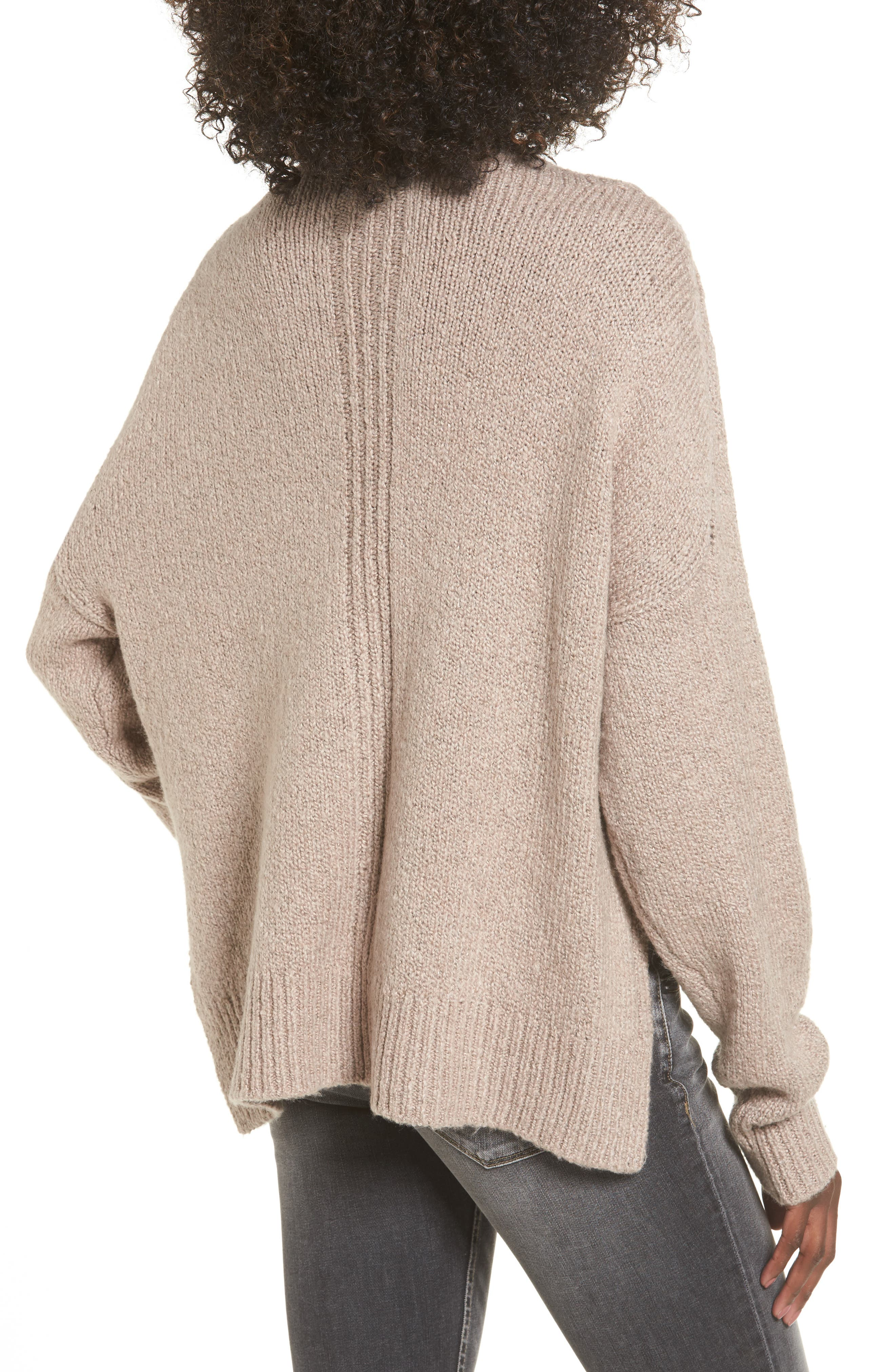 Fuzzy Side Slit Sweater,                             Alternate thumbnail 5, color,