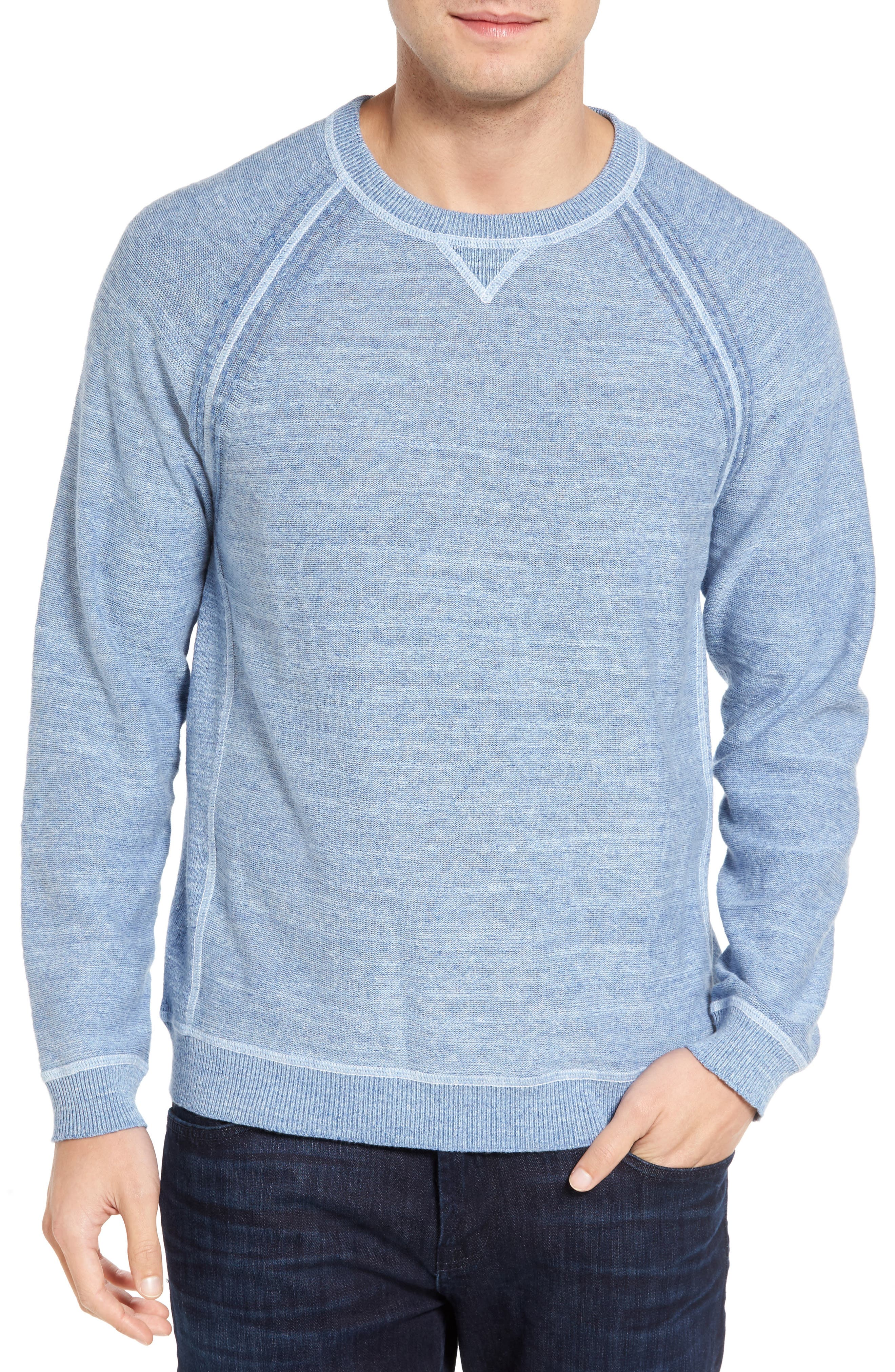 Sandy Bay Reversible Crewneck Sweater,                         Main,                         color, 100