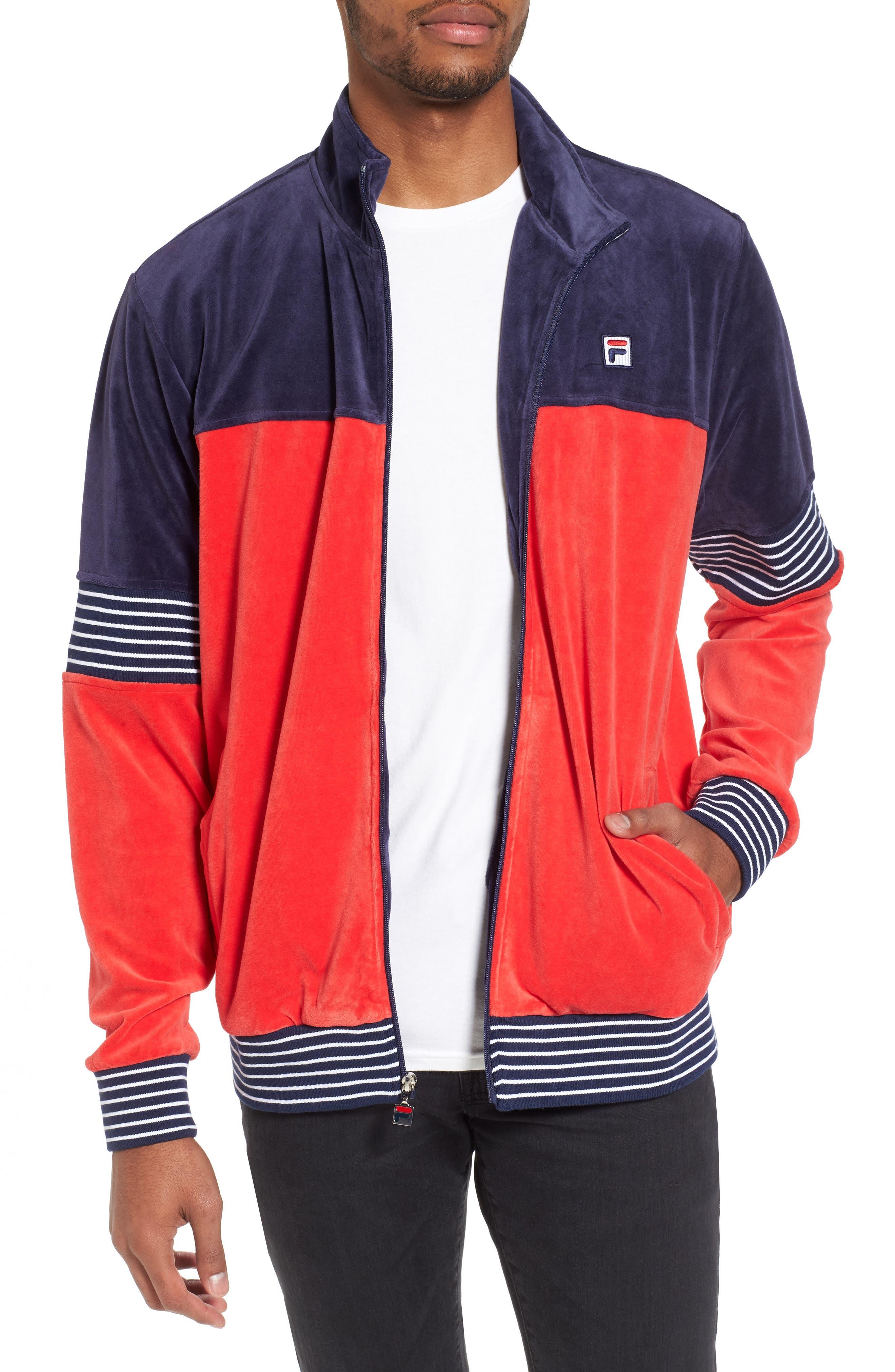Marcus Velour Track Jacket,                             Main thumbnail 3, color,