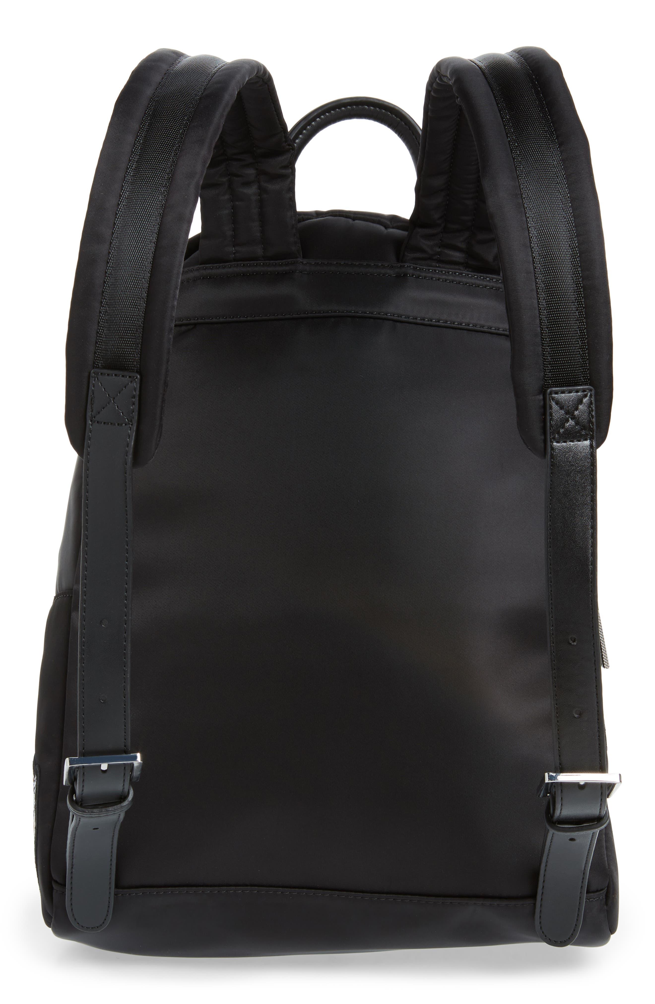 Sofiahh Nylon Backpack,                             Alternate thumbnail 3, color,                             BLACK