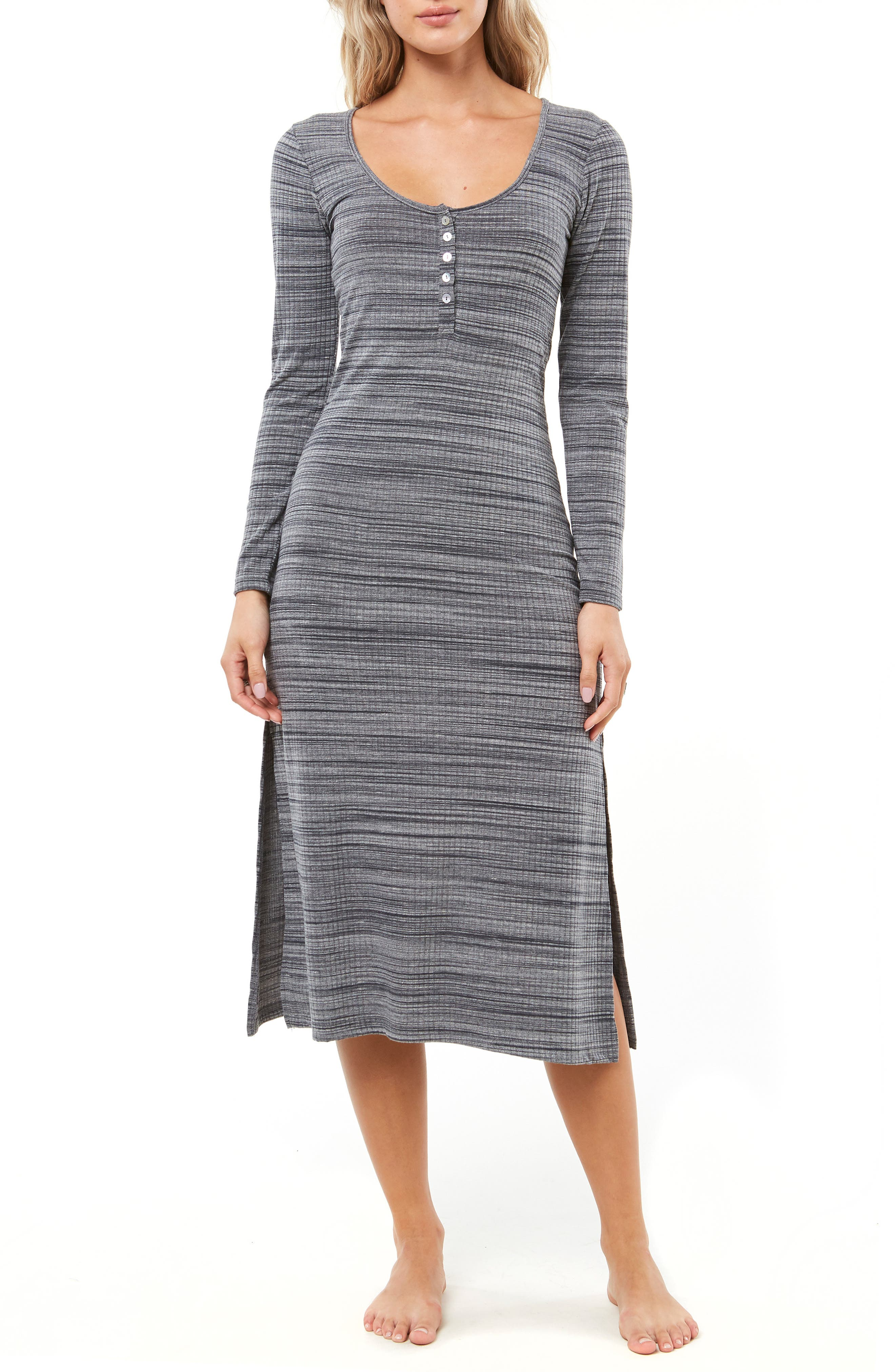 Shellsea Knit Midi Dress,                             Main thumbnail 1, color,                             INDIAN TEAL