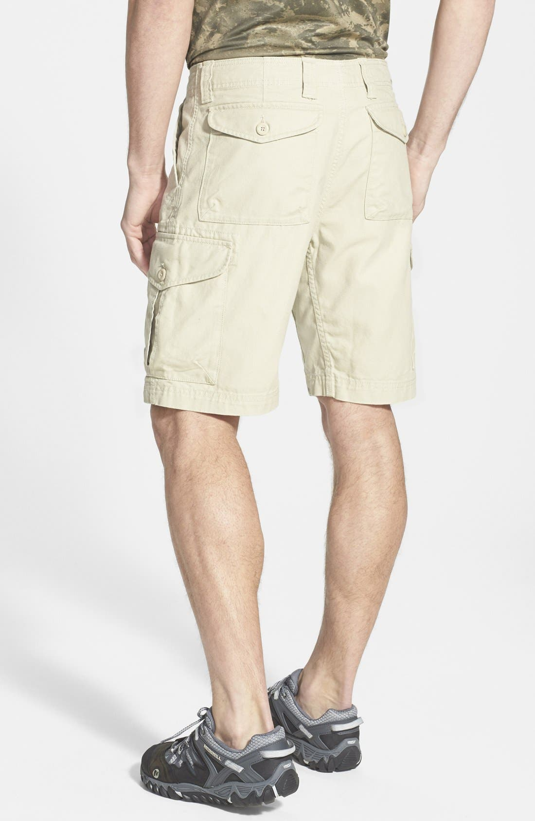 'Stand Up' Organic Cotton Canvas Cargo Shorts,                             Alternate thumbnail 2, color,                             250
