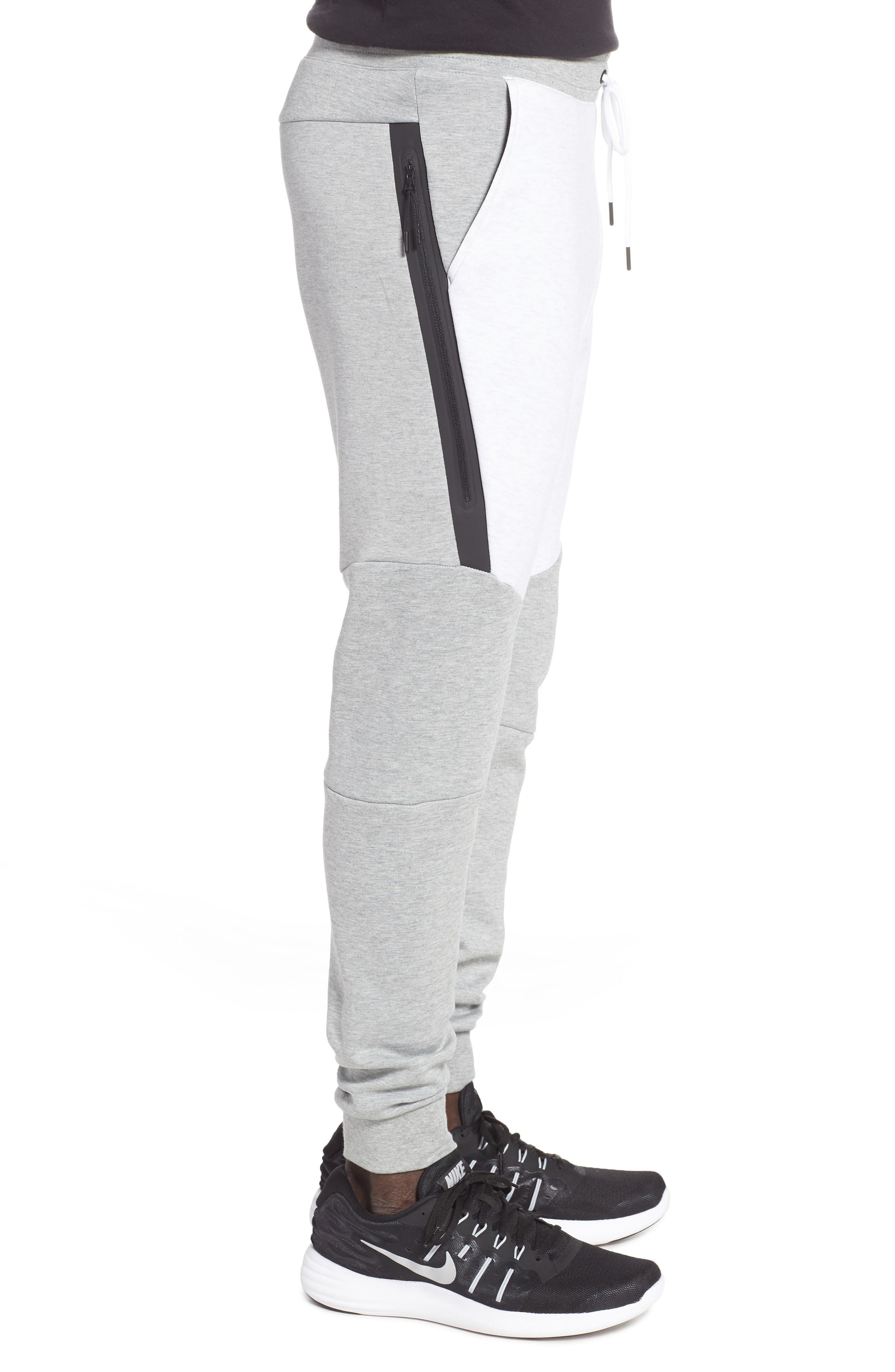 Tech Fleece Jogger Pants,                             Alternate thumbnail 3, color,                             HEATHER/ BIRCH HEATHER/ BLACK